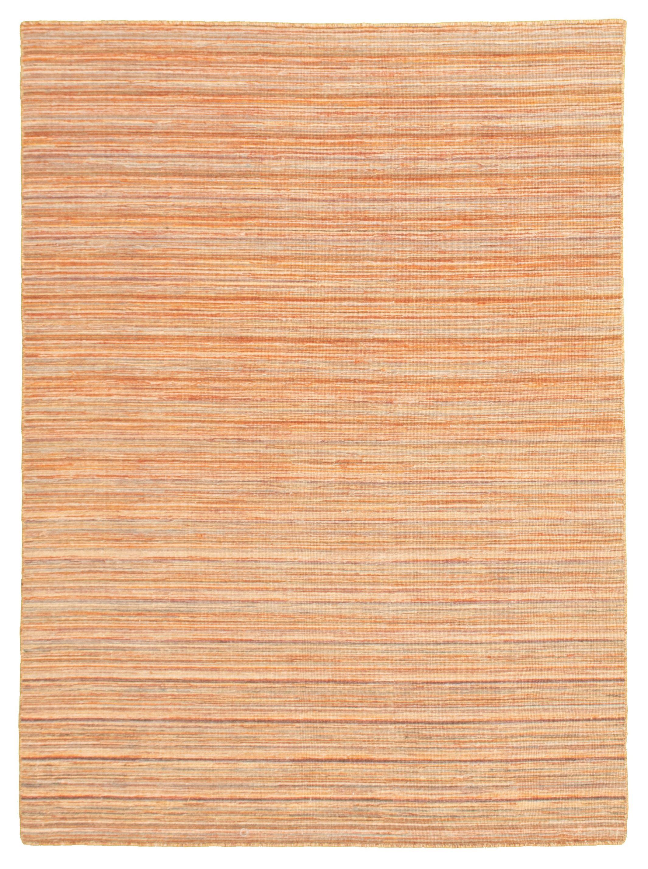"Hand woven Manhattan Beige Wool Tapestry Kilim 5'0"" x 6'10"" Size: 5'0"" x 6'10"""