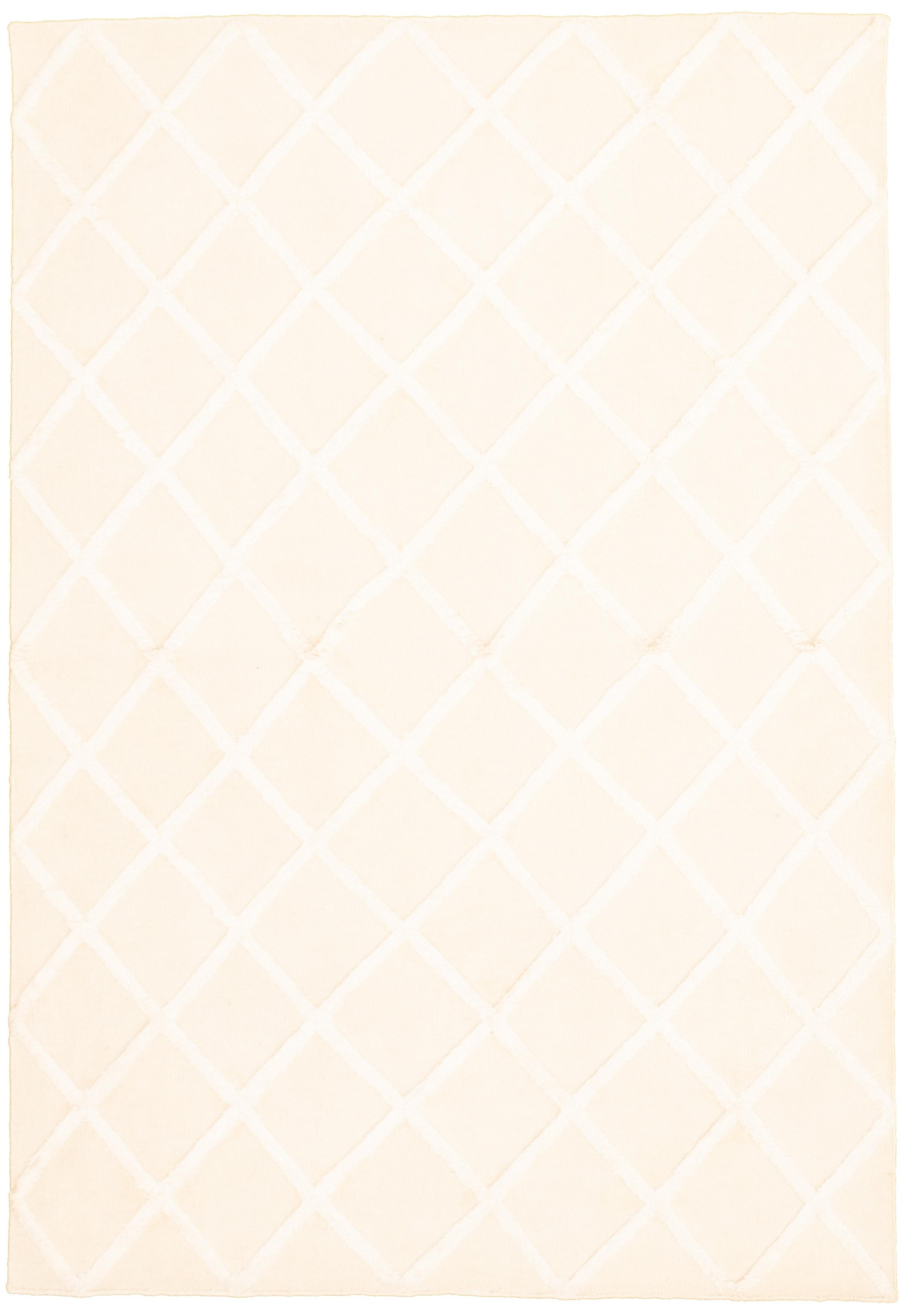"Hand woven Cambridge Beige Wool/Silk Kilim 5'0"" x 7'6"" Size: 5'0"" x 7'6"""