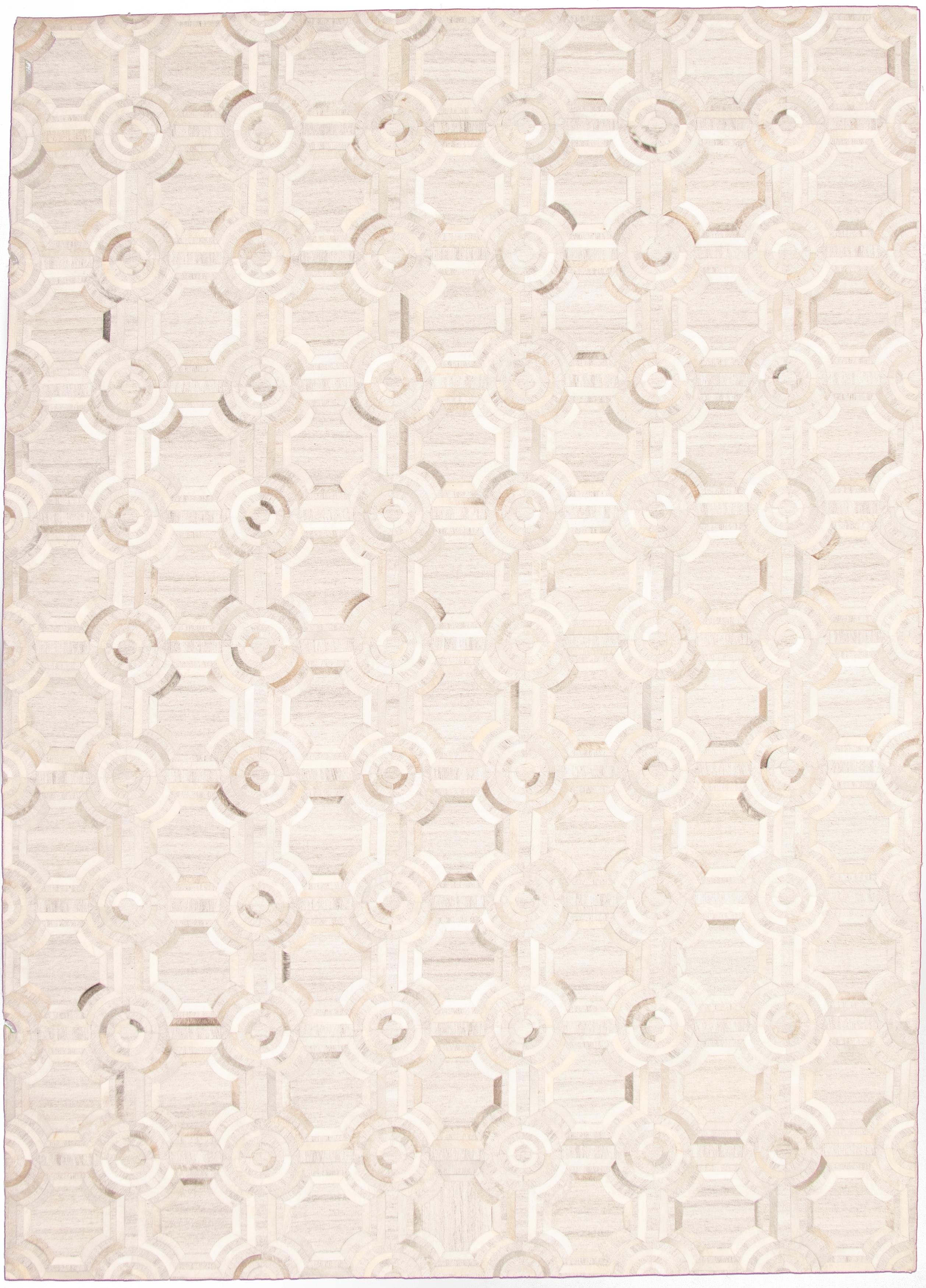 "Handmade Cowhide Patchwork Grey  Rug 9'1"" x 12'9"" Size: 9'1"" x 12'9"""