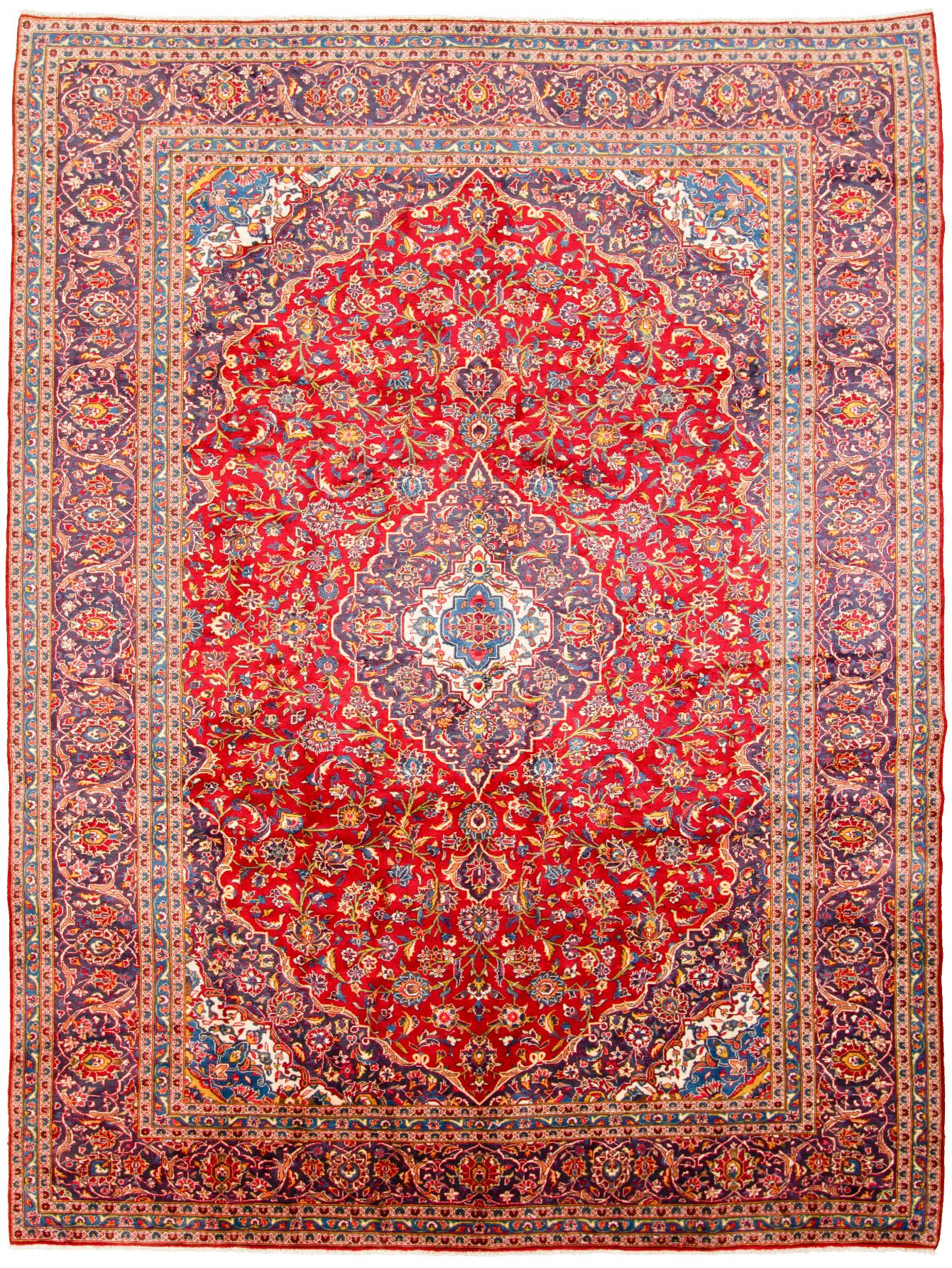 """Hand-knotted Arak  Wool Rug 9'7"""" x 13'1"""" Size: 9'7"""" x 13'1"""""""