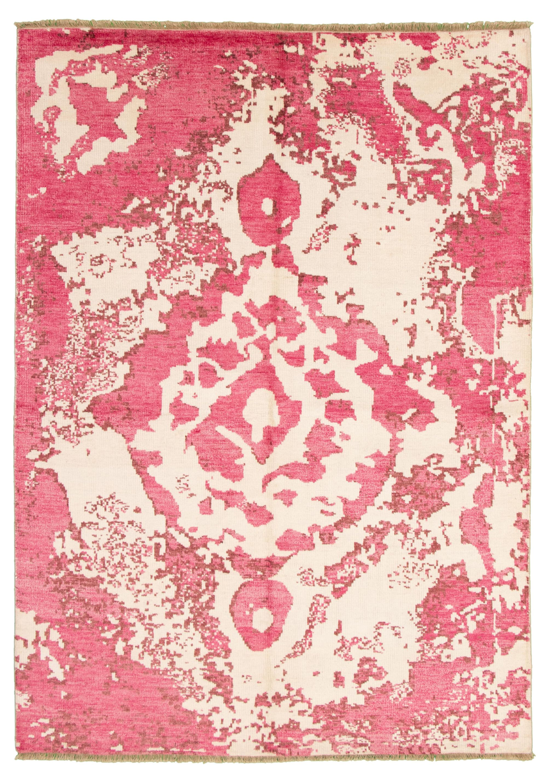 "Hand-knotted Jules Ushak Dark Pink  Rug 7'1"" x 10'0"" Size: 7'1"" x 10'0"""