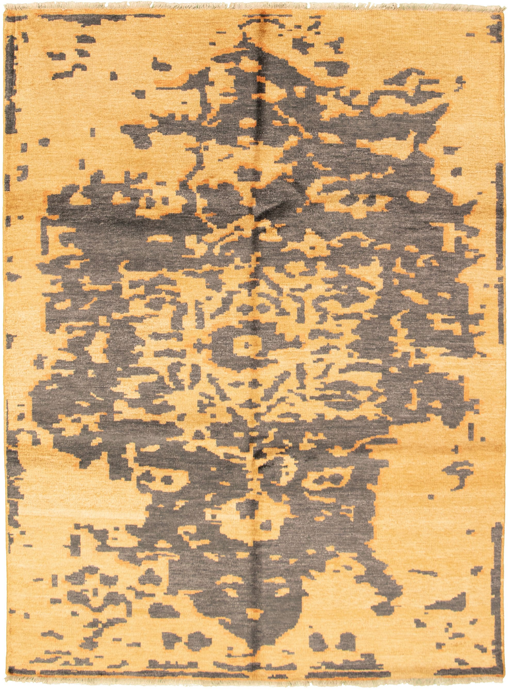 """Hand-knotted Jules Ushak Light Brown  Rug 7'1"""" x 9'8"""" Size: 7'1"""" x 9'8"""""""