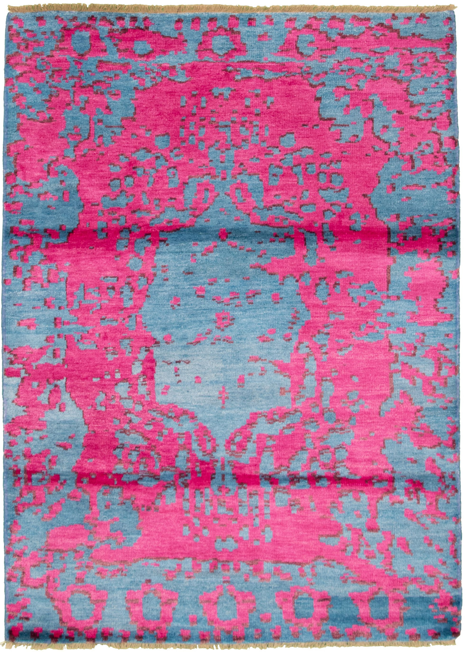 "Hand-knotted Jules Ushak Dark Pink  Rug 5'4"" x 7'5"" Size: 5'4"" x 7'5"""