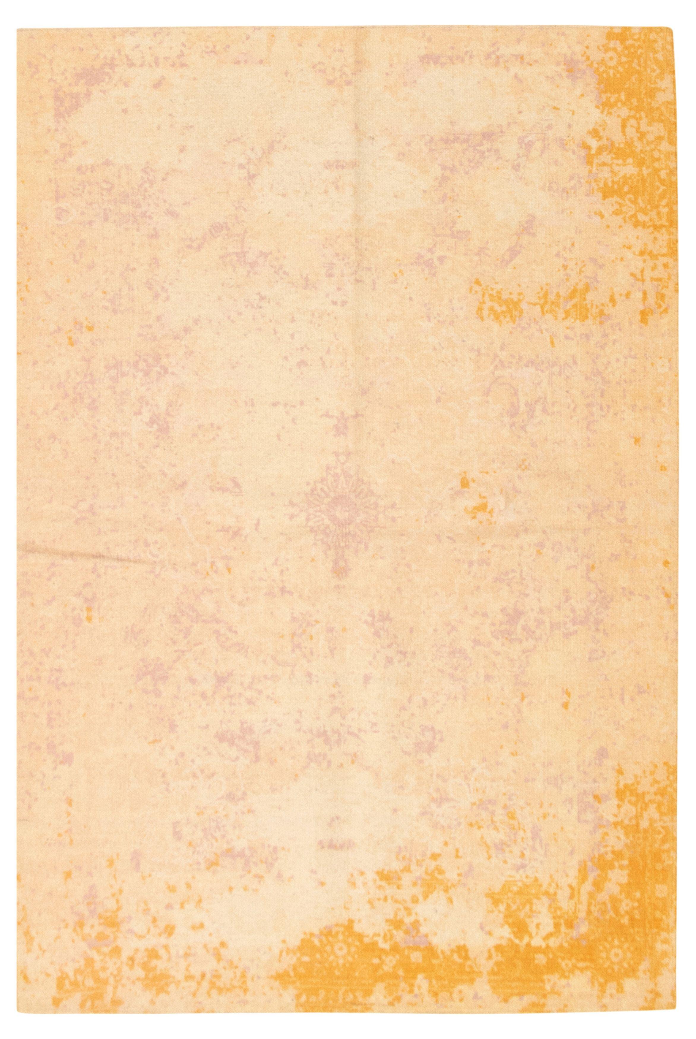"""Hand woven Color Transition Beige Cotton Kilim 5'2"""" x 7'9"""" Size: 5'2"""" x 7'9"""""""