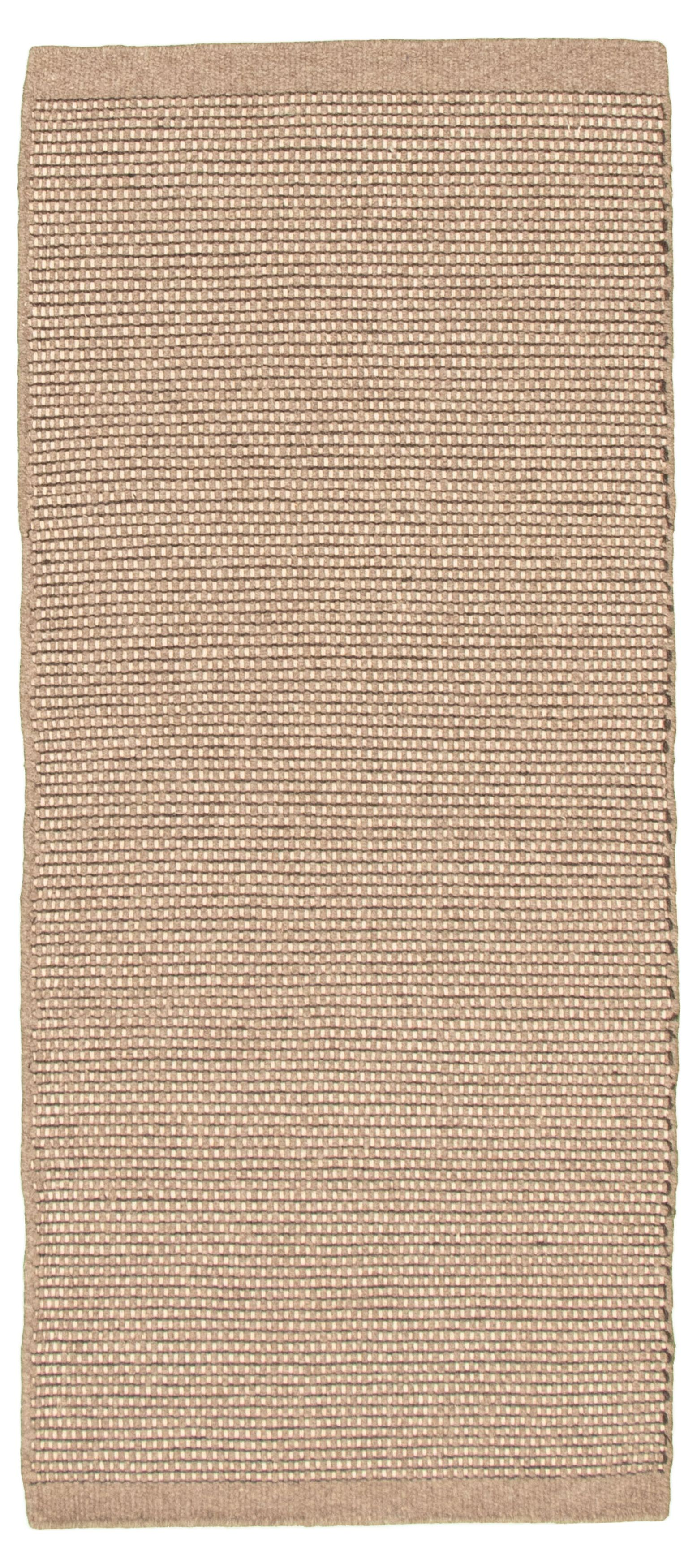 """Hand loomed Bungalow TN Tan Wool Dhurrie 2'9"""" x 6'5"""" Size: 2'9"""" x 6'5"""""""