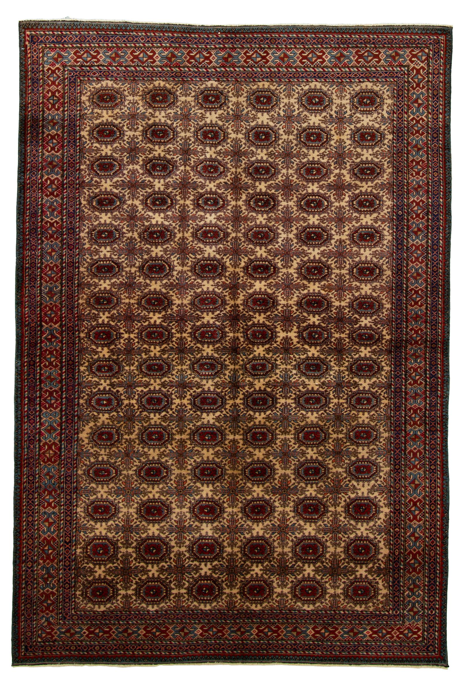 """Hand-knotted Keisari Vintage Blue, Ivory  Rug 4'9"""" x 7'3"""" Size: 4'9"""" x 7'3"""""""