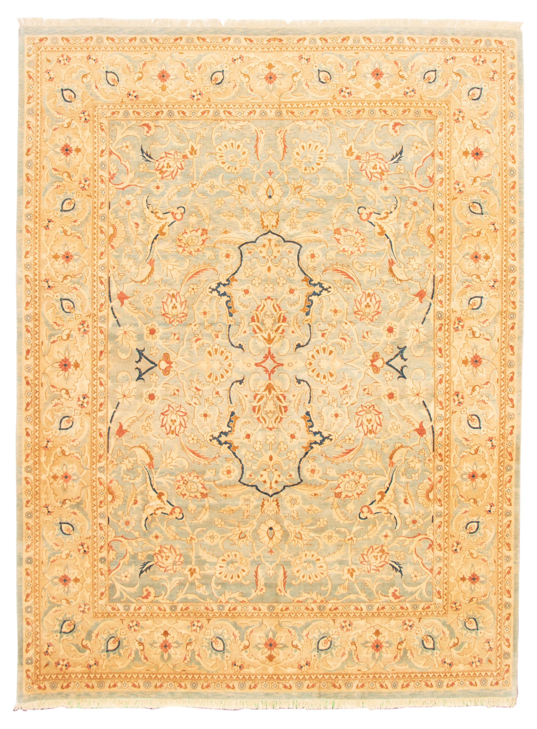 """Hand-knotted Pako Persian 18/20 Light Blue  Wool Rug 8'10"""" x 11'10"""" Size: 8'10"""" x 11'10"""""""