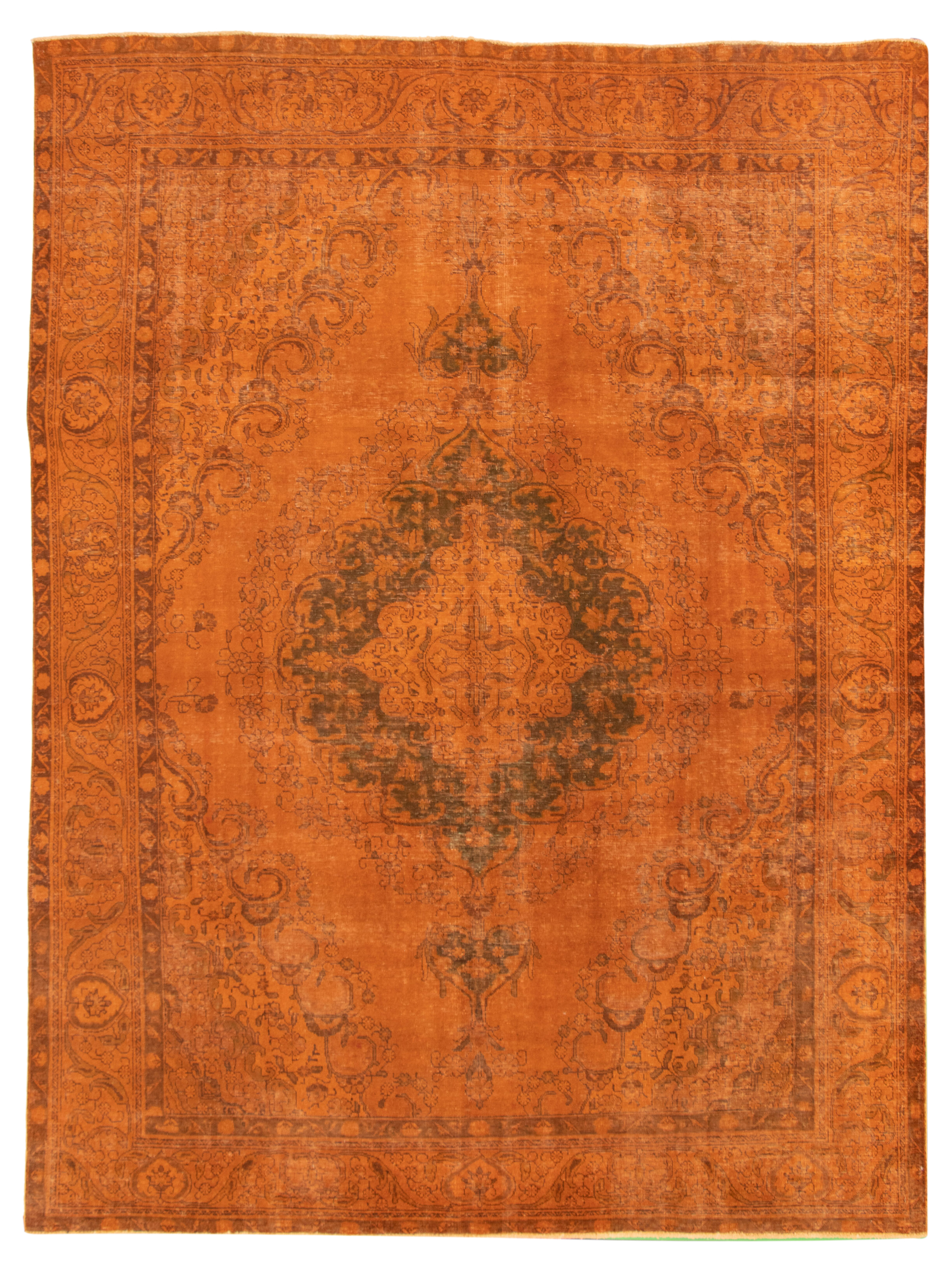"""Hand-knotted Color Transition Orange Wool Rug 9'4"""" x 12'3"""" Size: 9'4"""" x 12'3"""""""