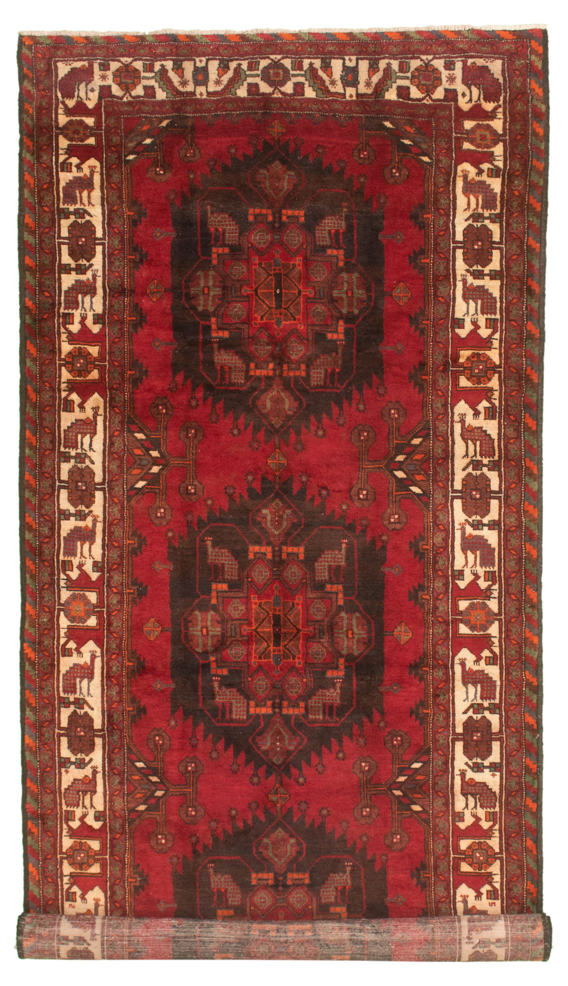 """Hand-knotted Authentic Turkish Red Wool Rug 5'1"""" x 11'6"""" Size: 5'1"""" x 11'6"""""""
