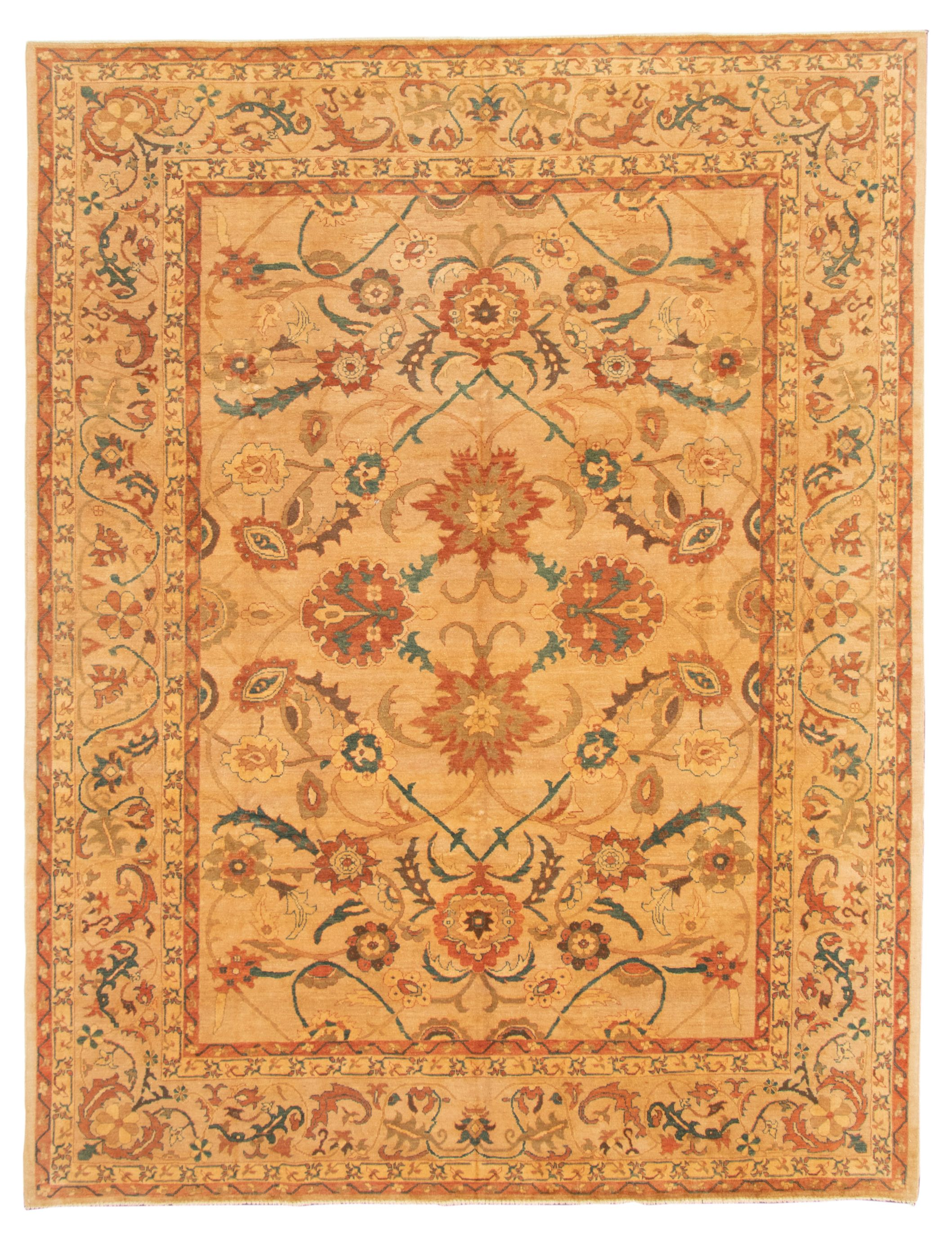 """Hand-knotted Chobi Finest Beige Wool Rug 9'0"""" x 12'0"""" Size: 9'0"""" x 12'0"""""""