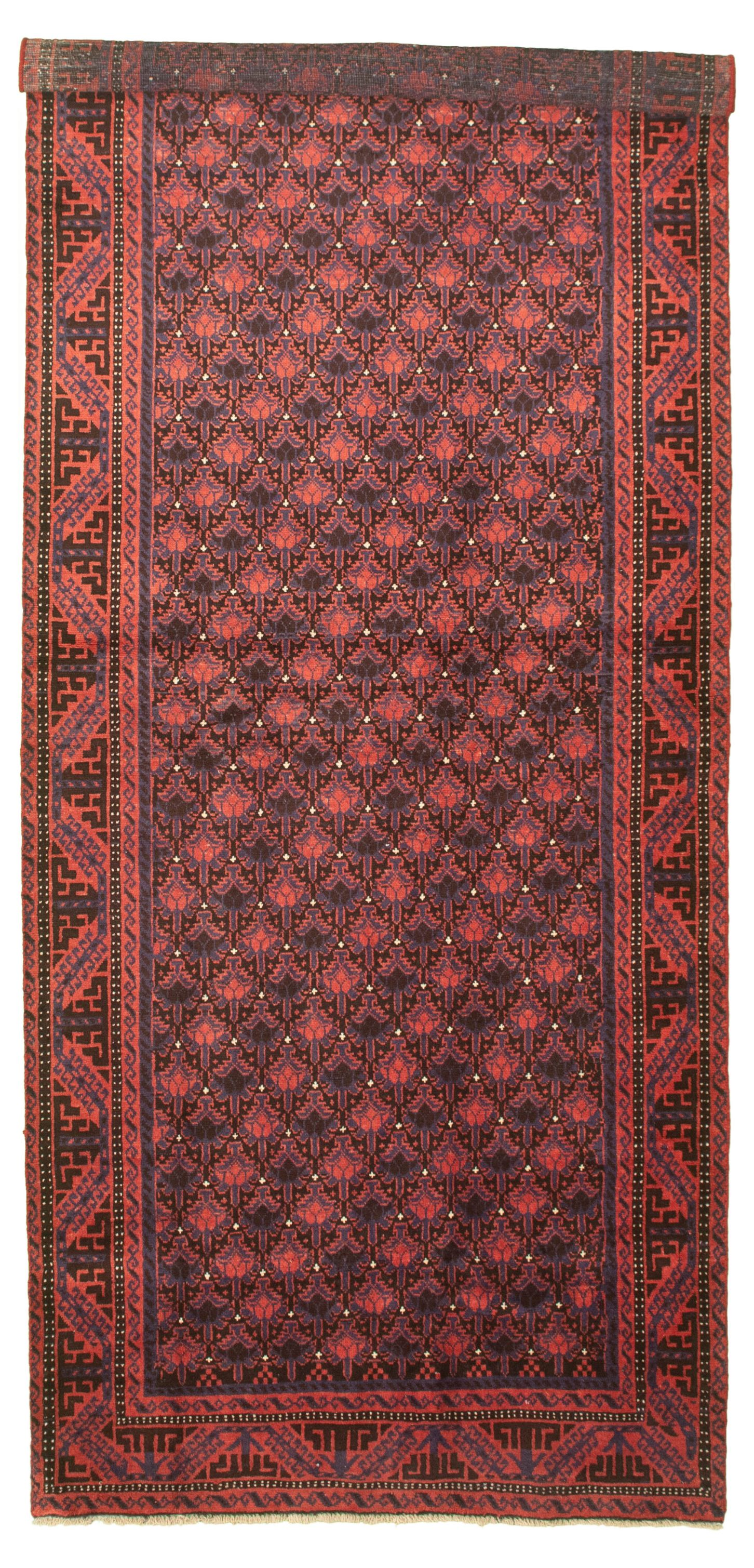 "Hand-knotted Authentic Turkish Red Wool Rug 4'1"" x 10'4"" Size: 4'1"" x 10'4"""