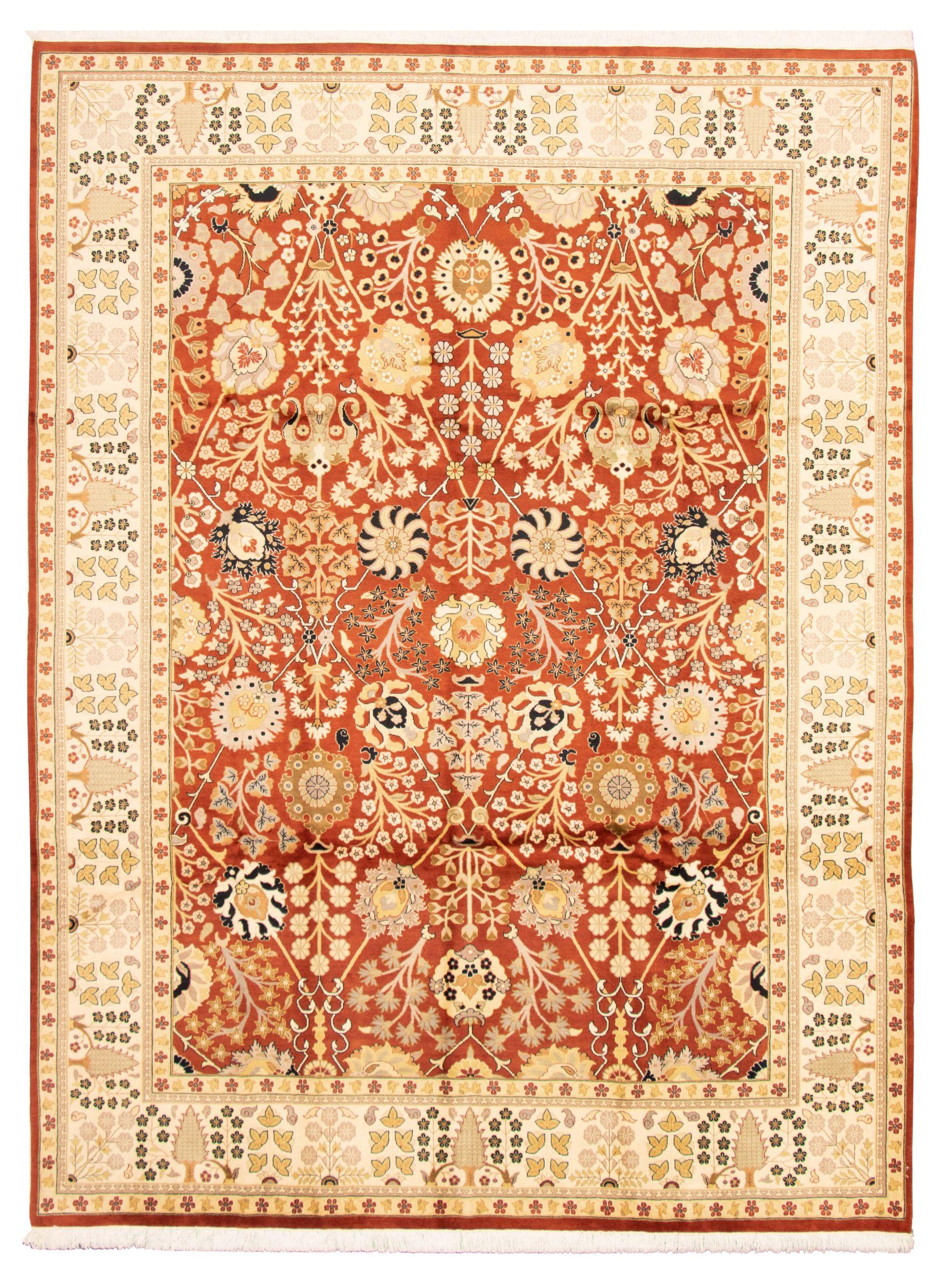 "Hand-knotted Pako Persian 18/20 Burnt Orange Wool Rug 9'1"" x 12'3"" Size: 9'1"" x 12'3"""