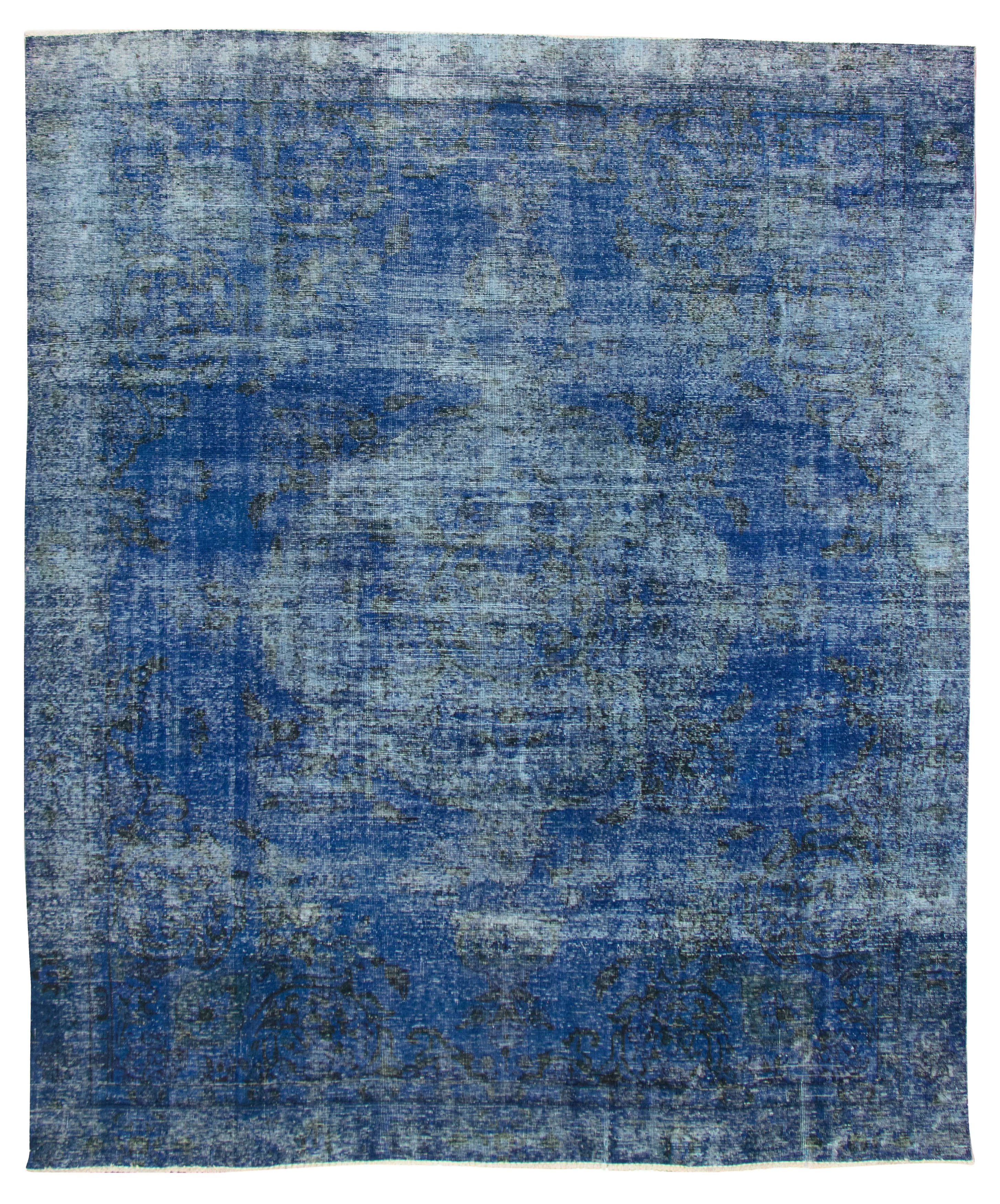 """Hand-knotted Color Transition Dark Blue Wool Rug 9'1"""" x 11'2"""" Size: 9'1"""" x 11'2"""""""