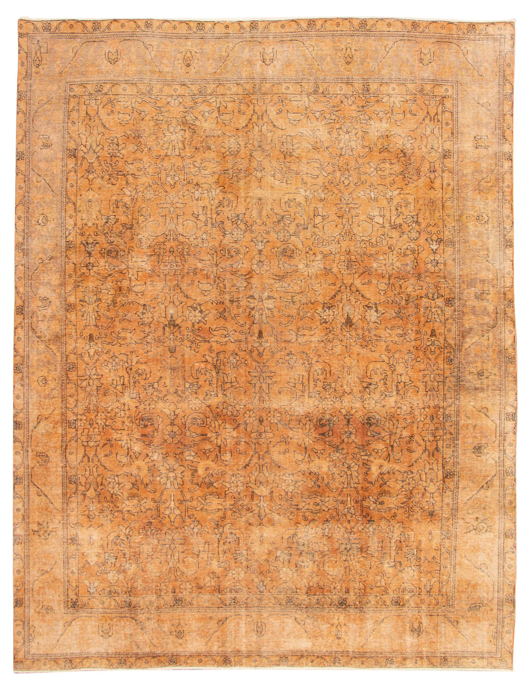 """Hand-knotted Color Transition Light Orange Wool Rug 9'8"""" x 12'6"""" Size: 9'8"""" x 12'6"""""""
