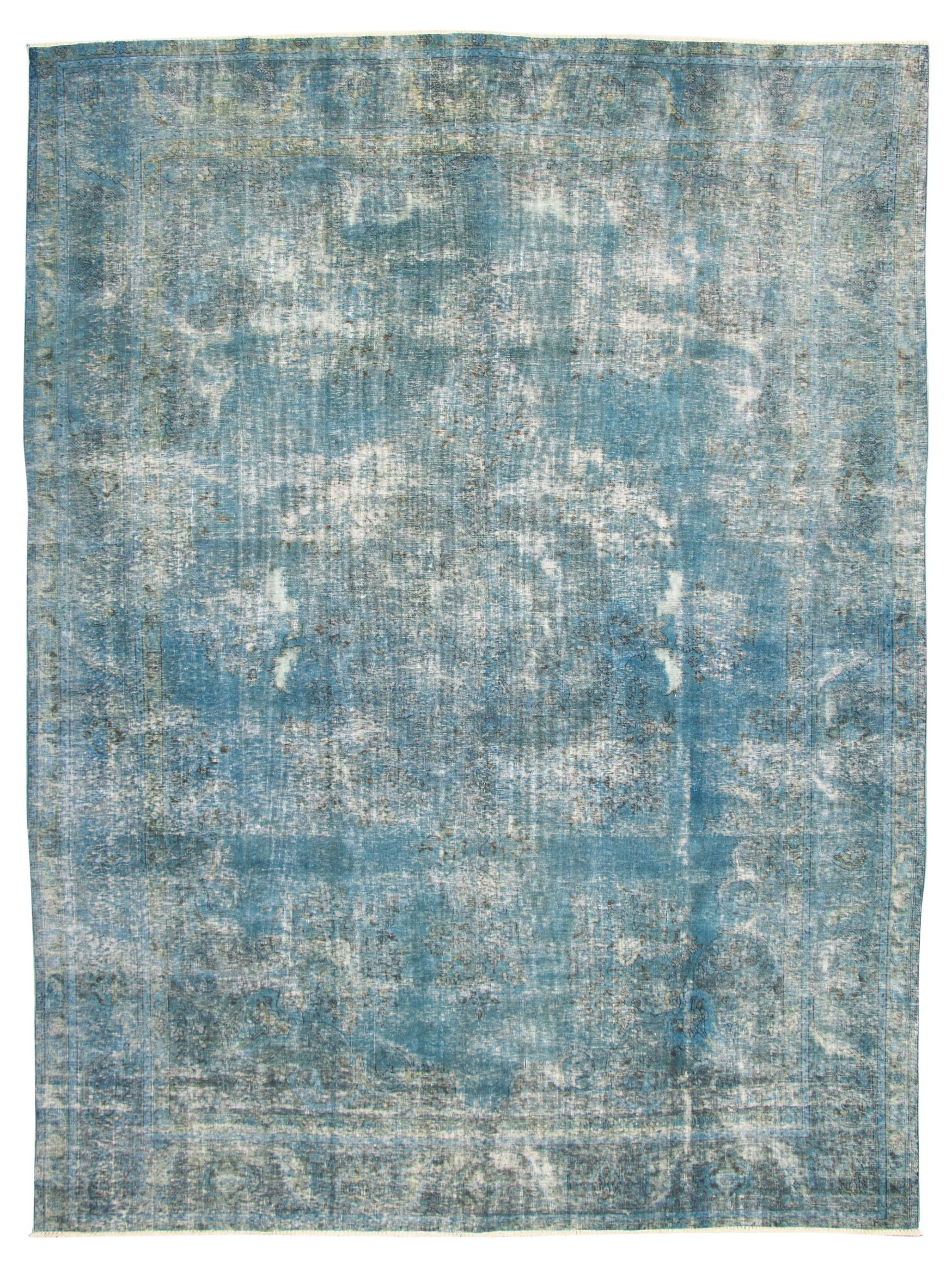 """Hand-knotted Color Transition Blue, Grey Wool Rug 9'9"""" x 12'10"""" Size: 9'9"""" x 12'10"""""""