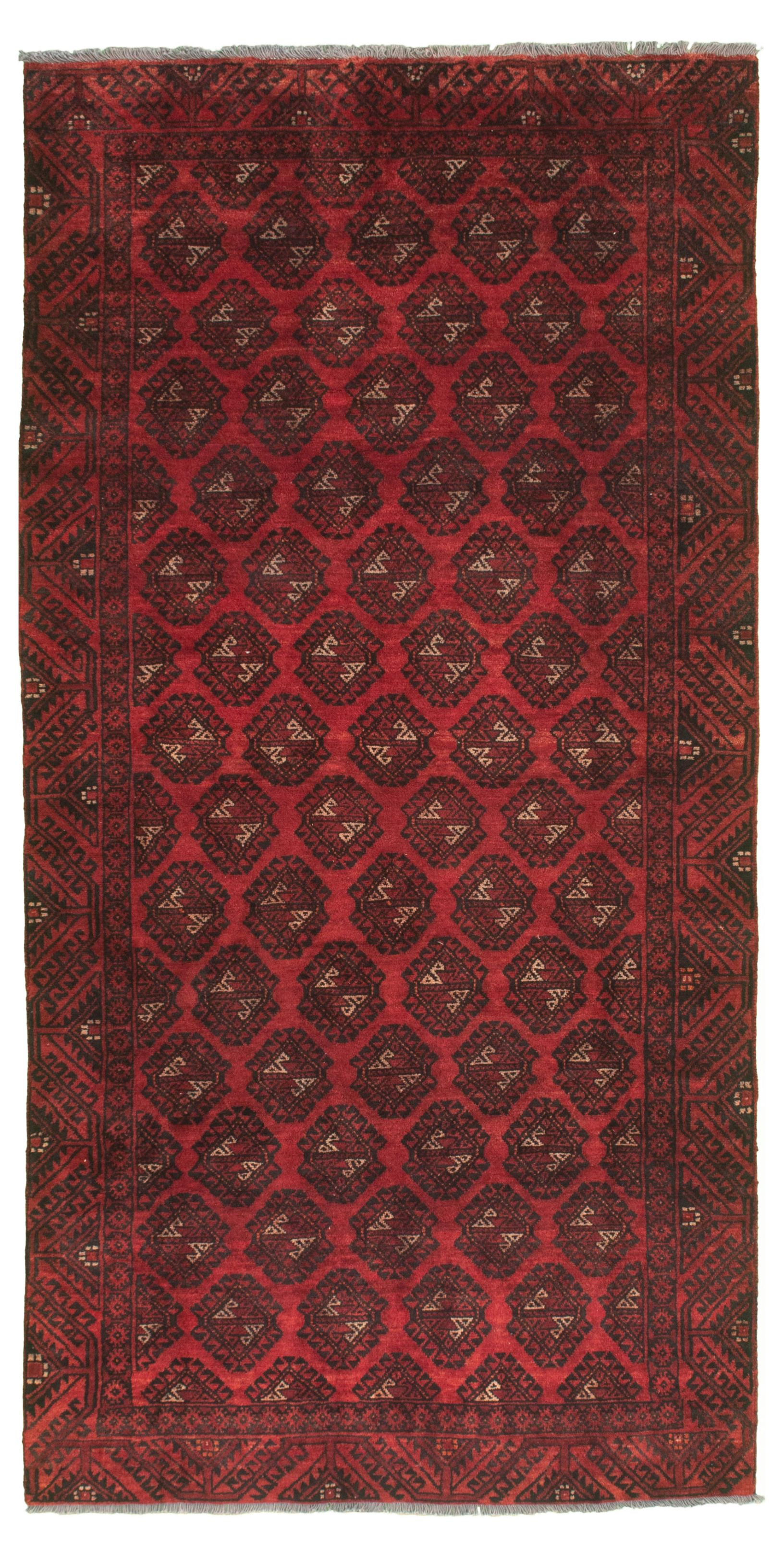 "Hand-knotted Authentic Turkish Red Wool Rug 4'6"" x 9'0"" Size: 4'6"" x 9'0"""