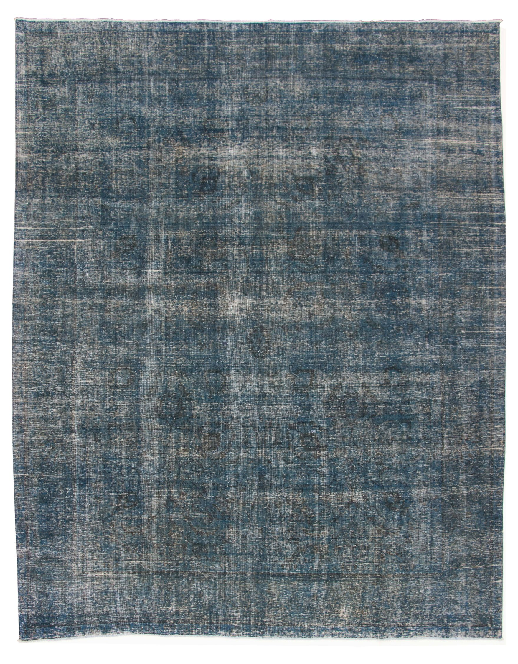 """Hand-knotted Color Transition Navy Blue Wool Rug 9'9"""" x 12'7"""" Size: 9'9"""" x 12'7"""""""