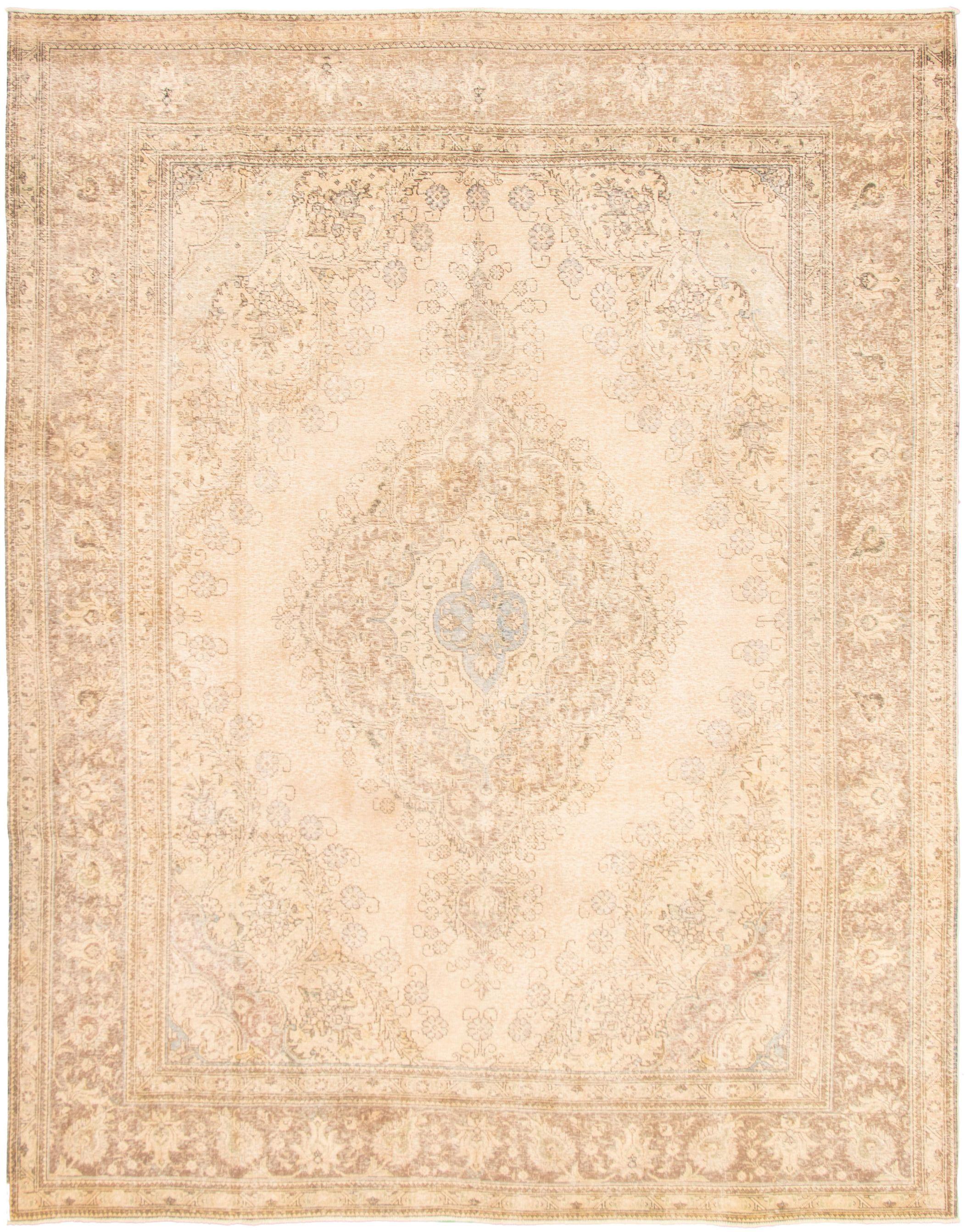 "Hand-knotted Antalya Vintage Light Khaki Wool Rug 9'9"" x 12'6""  Size: 9'9"" x 12'6"""
