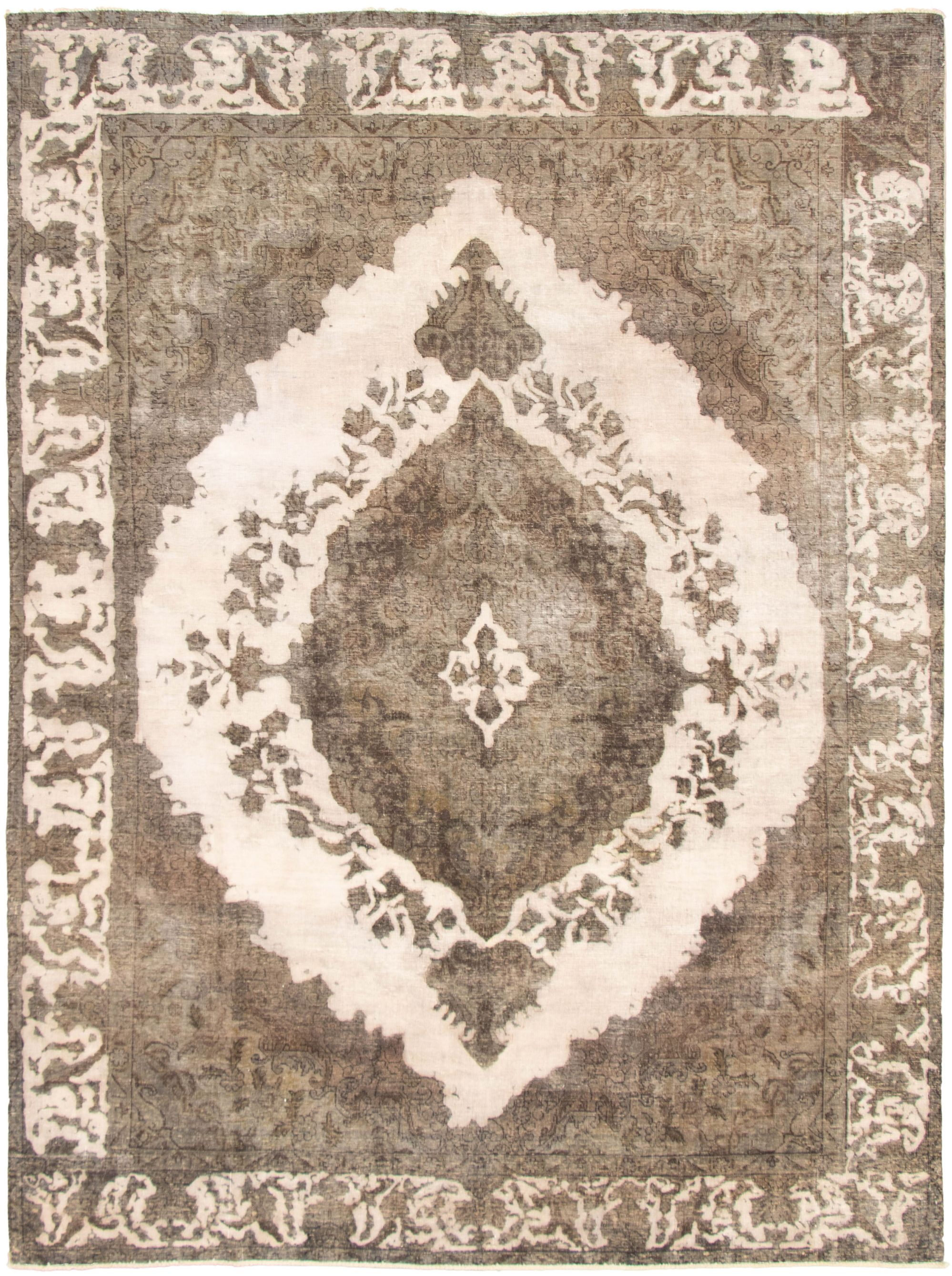 "Hand-knotted Color Transition Dark Grey, Ivory Wool Rug 9'0"" x 12'6"" Size: 9'0"" x 12'6"""