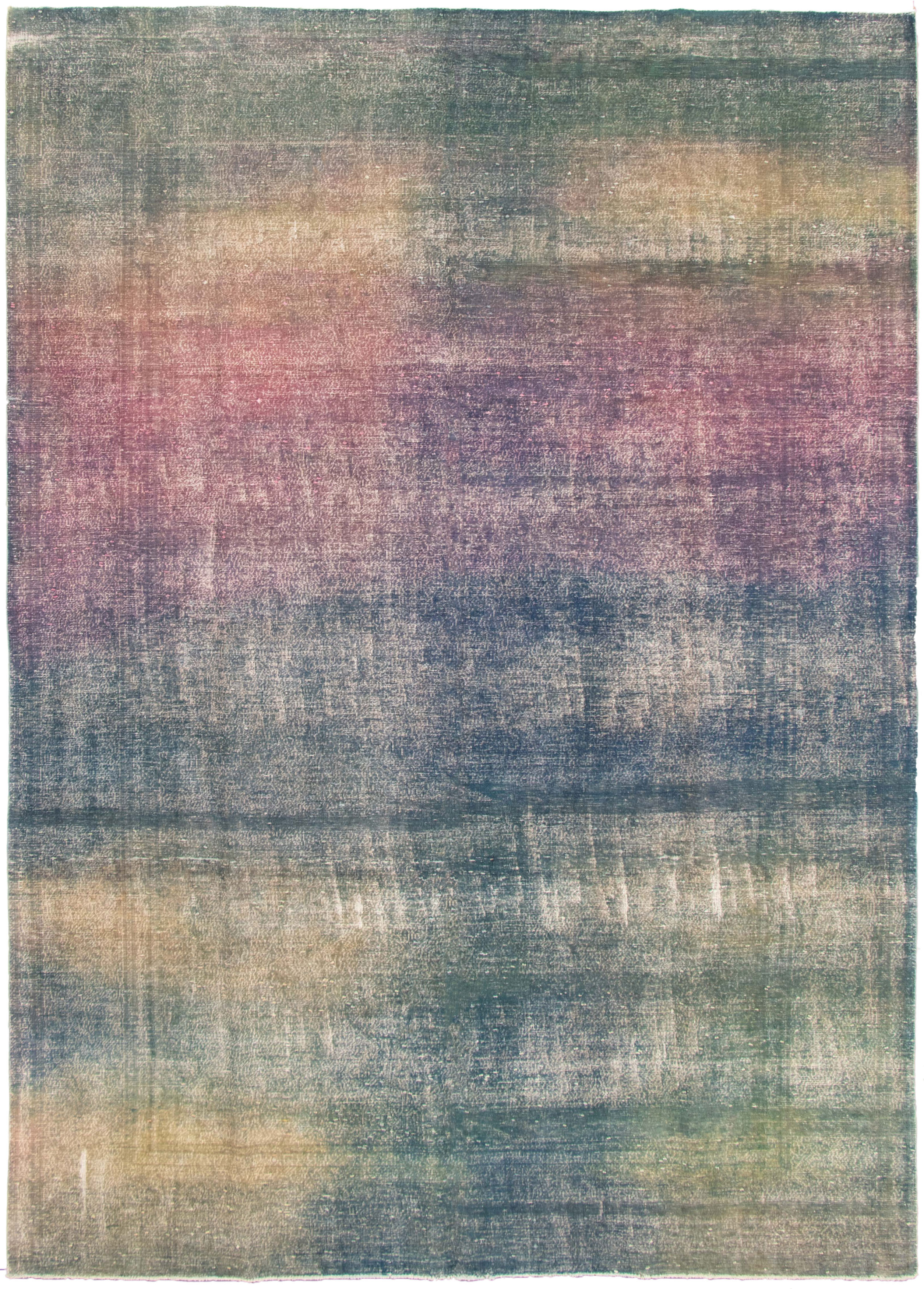 """Hand-knotted Color Transition Navy Blue Wool Rug 8'8"""" x 12'0"""" Size: 8'8"""" x 12'0"""""""