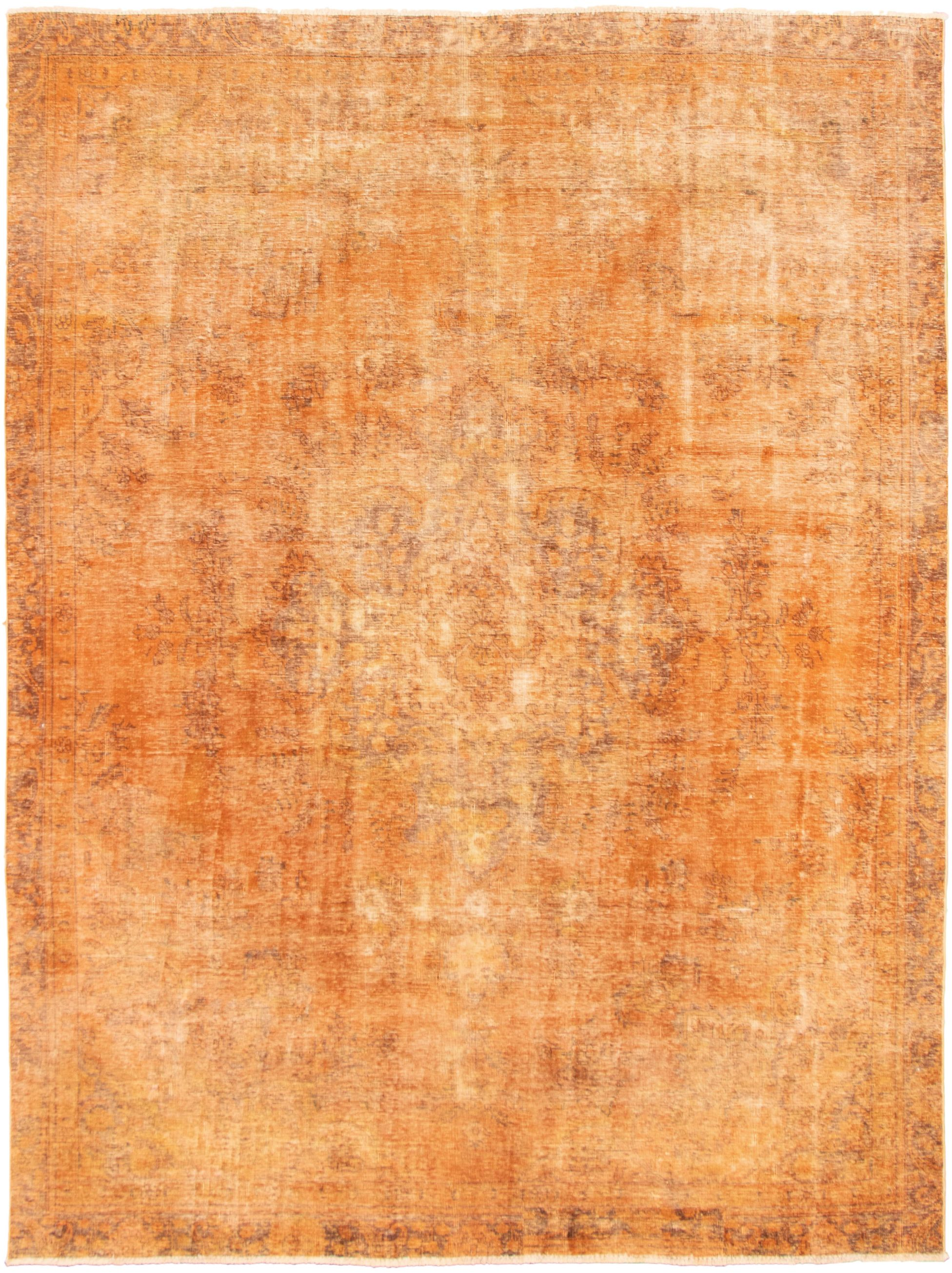 """Hand-knotted Color Transition Burnt Orange Wool Rug 8'6"""" x 11'6"""" Size: 8'6"""" x 11'6"""""""