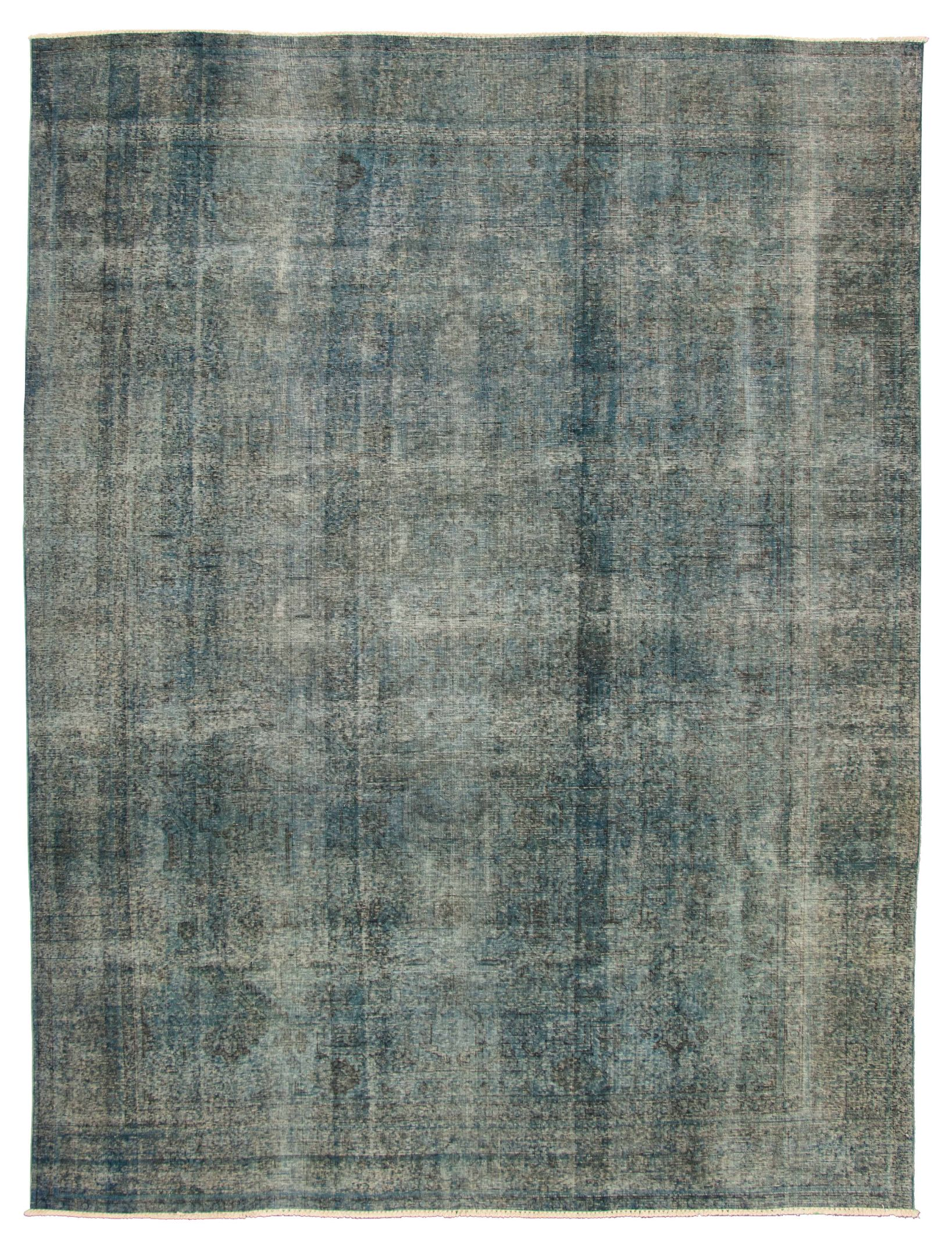 """Hand-knotted Color Transition Navy Blue Wool Rug 9'7"""" x 12'6"""" Size: 9'7"""" x 12'6"""""""