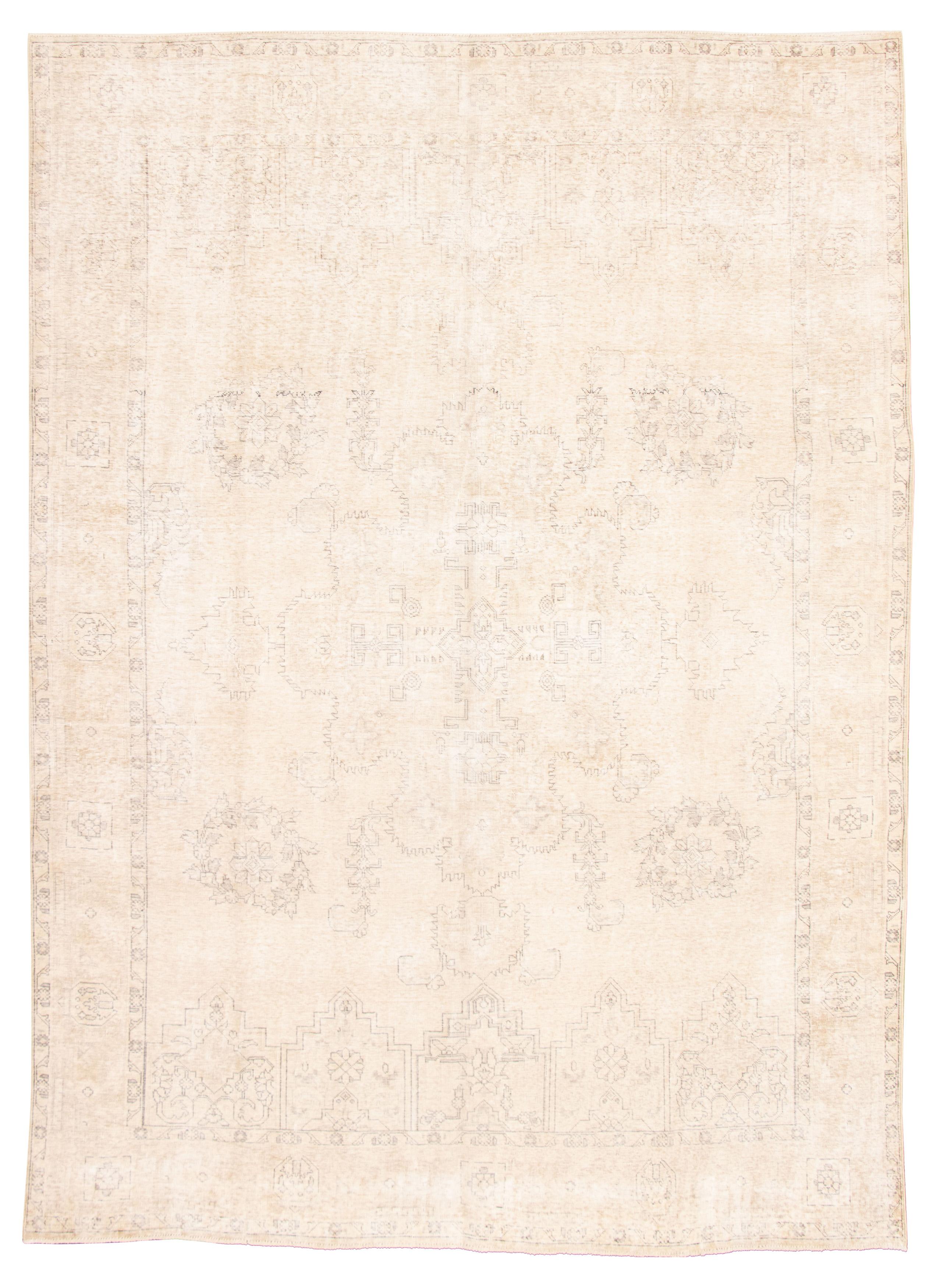 "Hand-knotted Antalya Vintage Light Khaki Wool Rug 9'2"" x 12'9"" Size: 9'2"" x 12'9"""