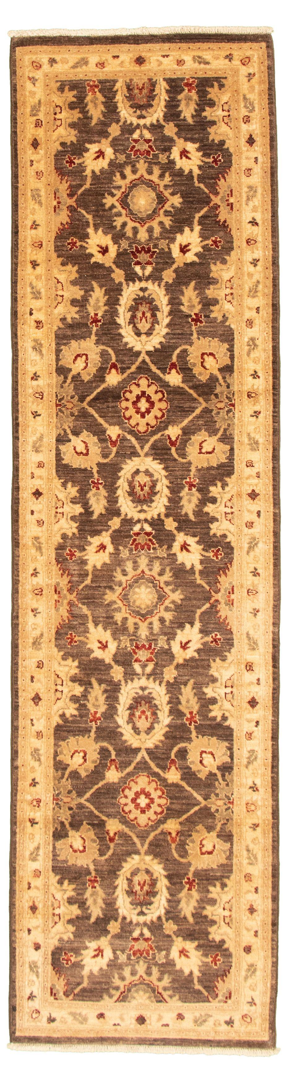 "Hand-knotted Chobi Finest Dark Brown Wool Rug 2'7"" x 9'10"" Size: 2'7"" x 9'10"""