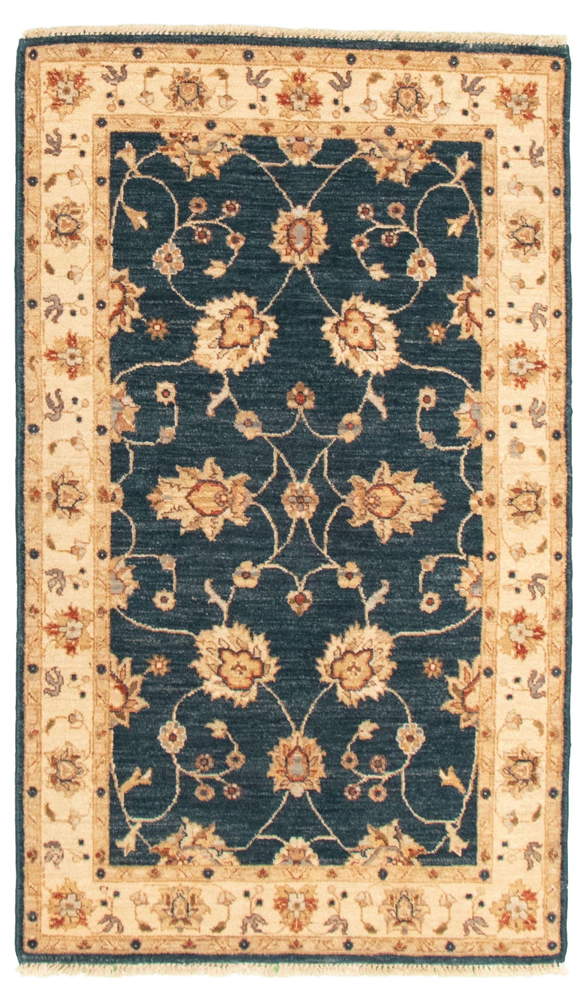 "Hand-knotted Chobi Finest Dark Blue Wool Rug 3'3"" x 5'4"" Size: 3'3"" x 5'4"""