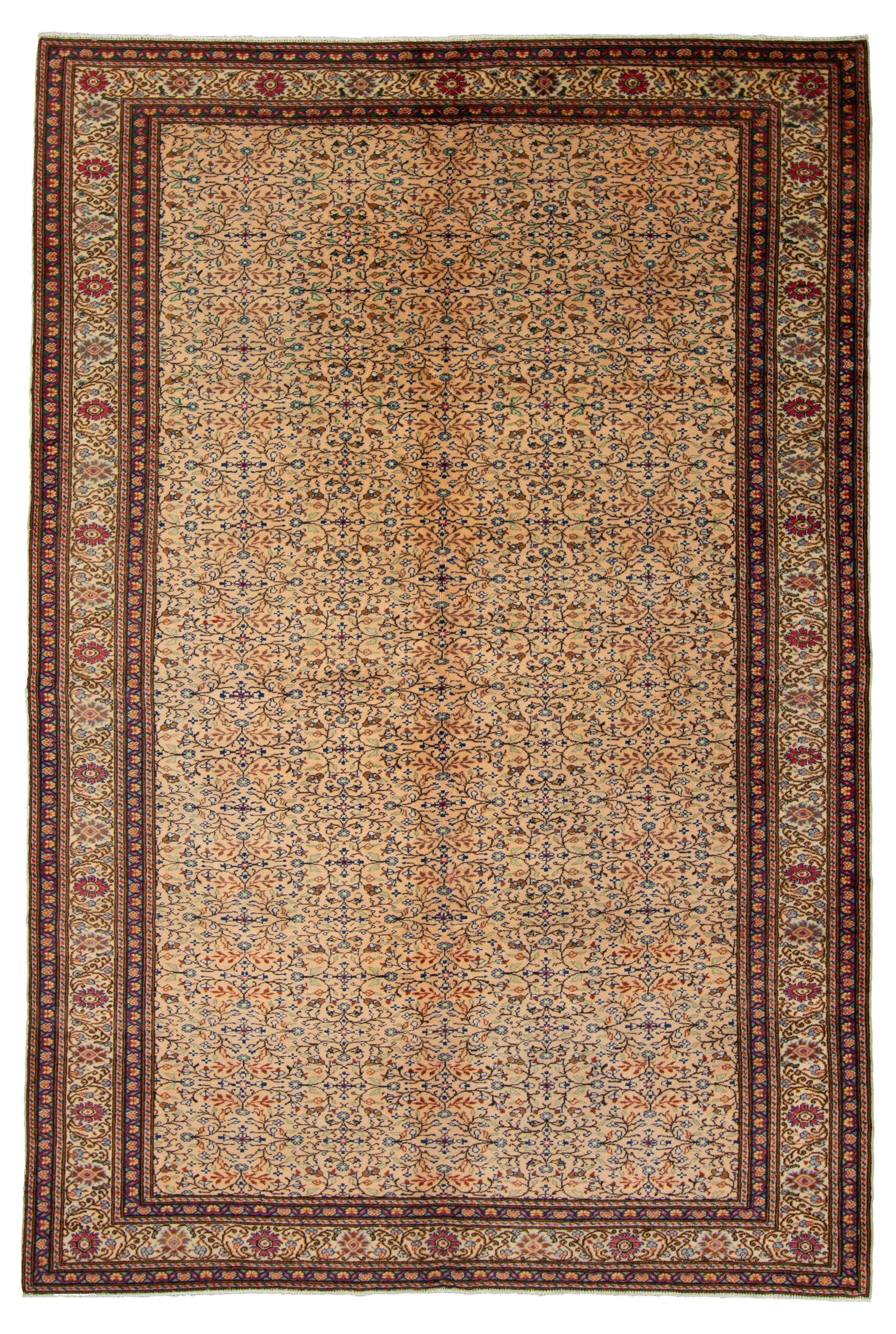 """Hand-knotted Keisari Vintage Ivory  Rug 6'5"""" x 9'5"""" Size: 6'5"""" x 9'5"""""""
