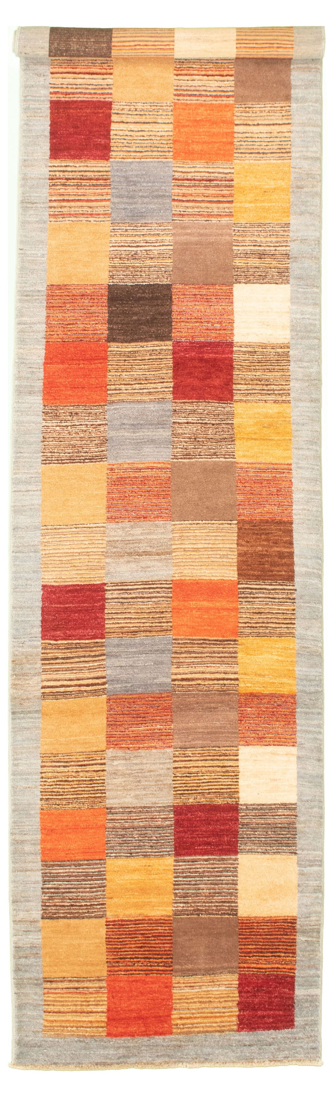 "Hand-knotted Peshawar Ziegler Light Blue  Wool Rug 2'7"" x 10'5"" Size: 2'7"" x 10'5"""
