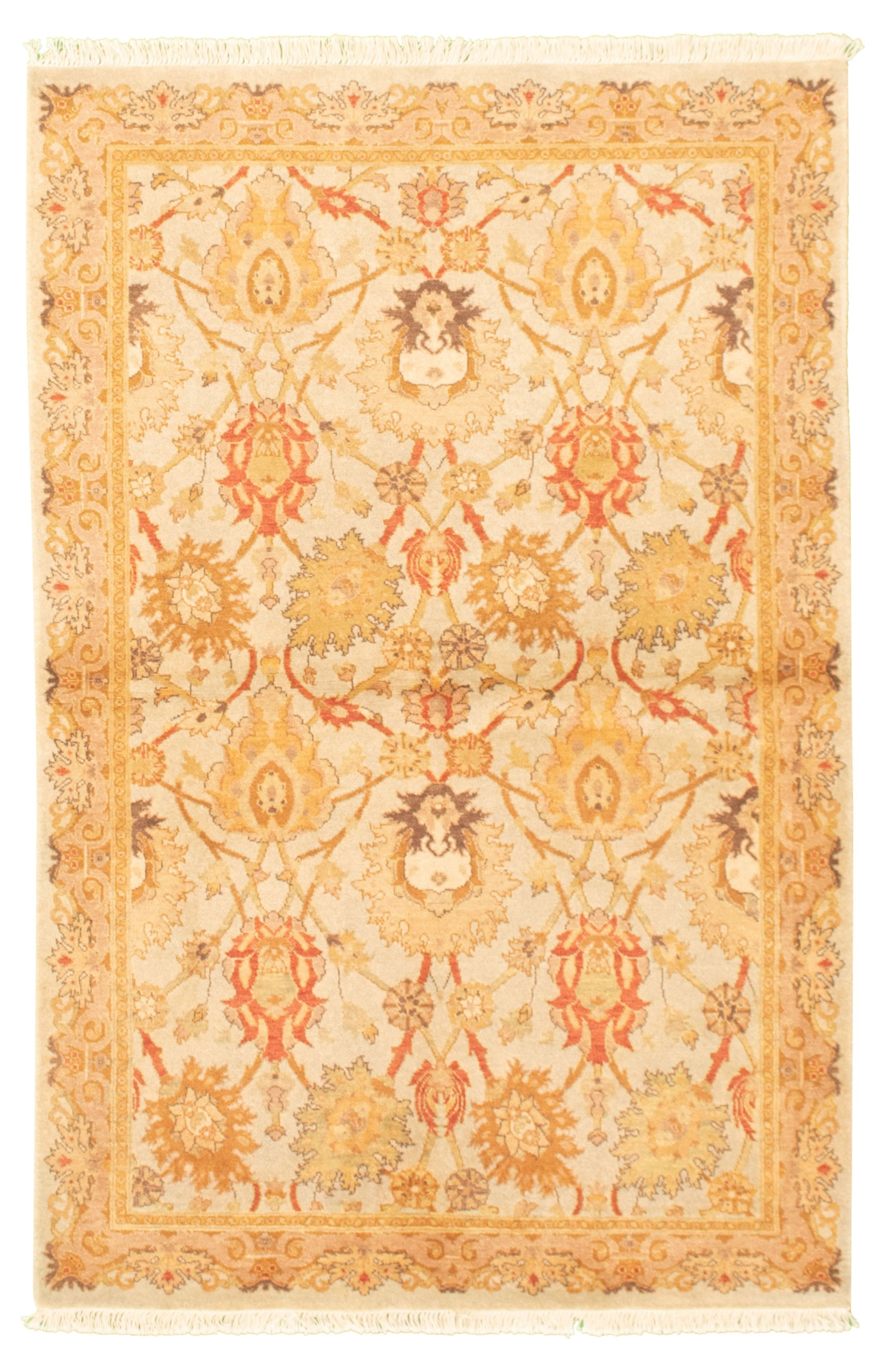 """Hand-knotted Pako Persian 18/20 Light Blue  Wool Rug 4'1"""" x 6'2"""" Size: 4'1"""" x 6'2"""""""