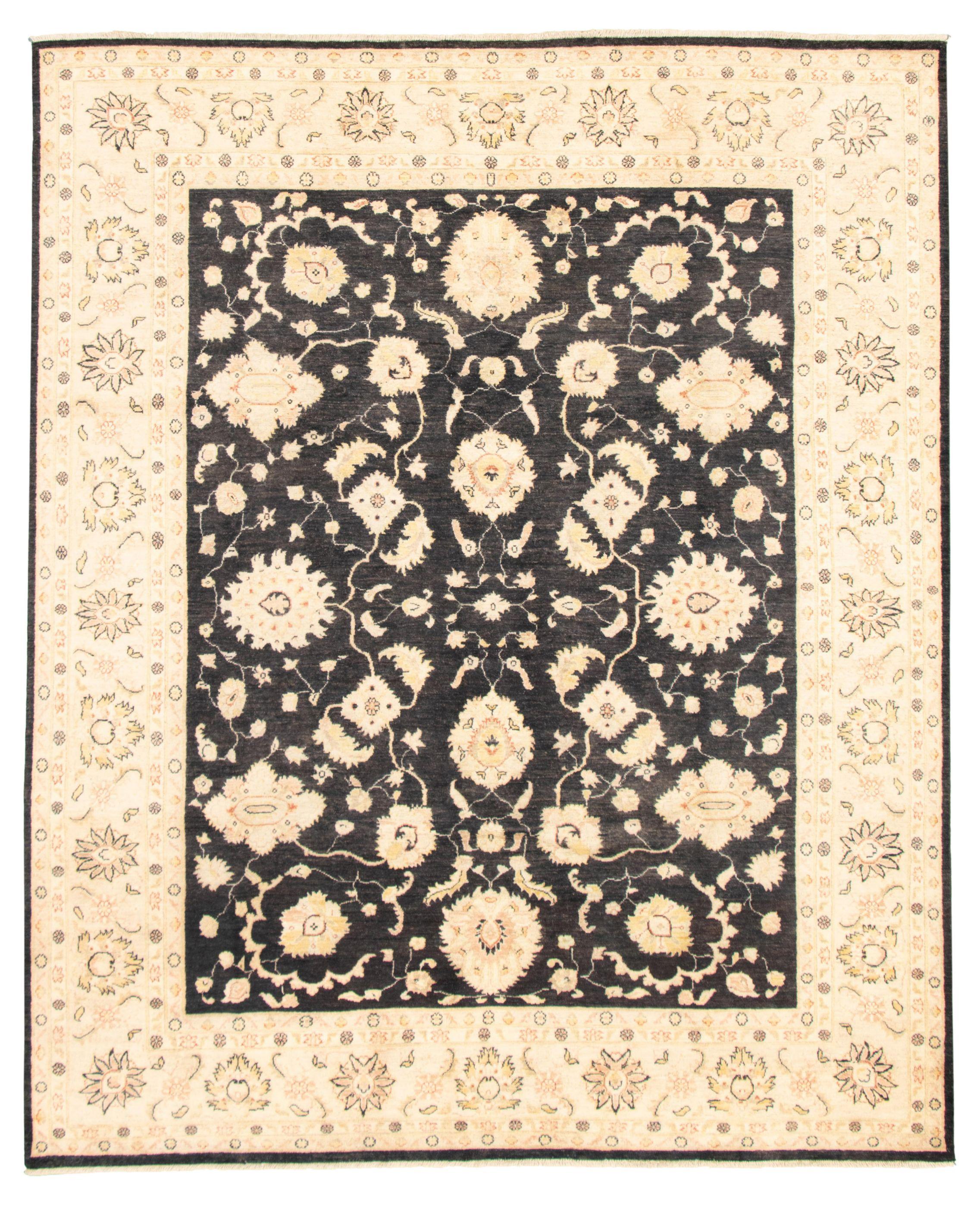 "Hand-knotted Chobi Finest Dark Navy Wool Rug 8'2"" x 9'10""  Size: 8'2"" x 9'10"""