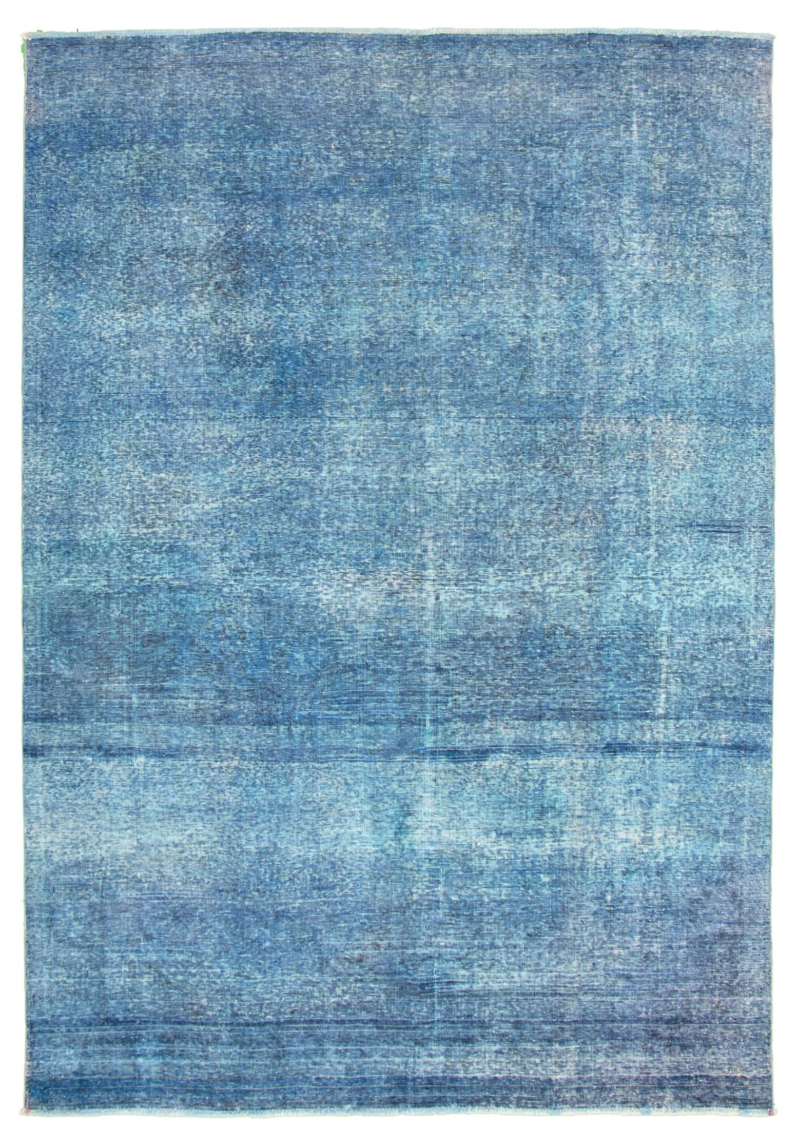 """Hand-knotted Color Transition Dark Blue Wool Rug 8'0"""" x 11'4"""" Size: 8'0"""" x 11'4"""""""