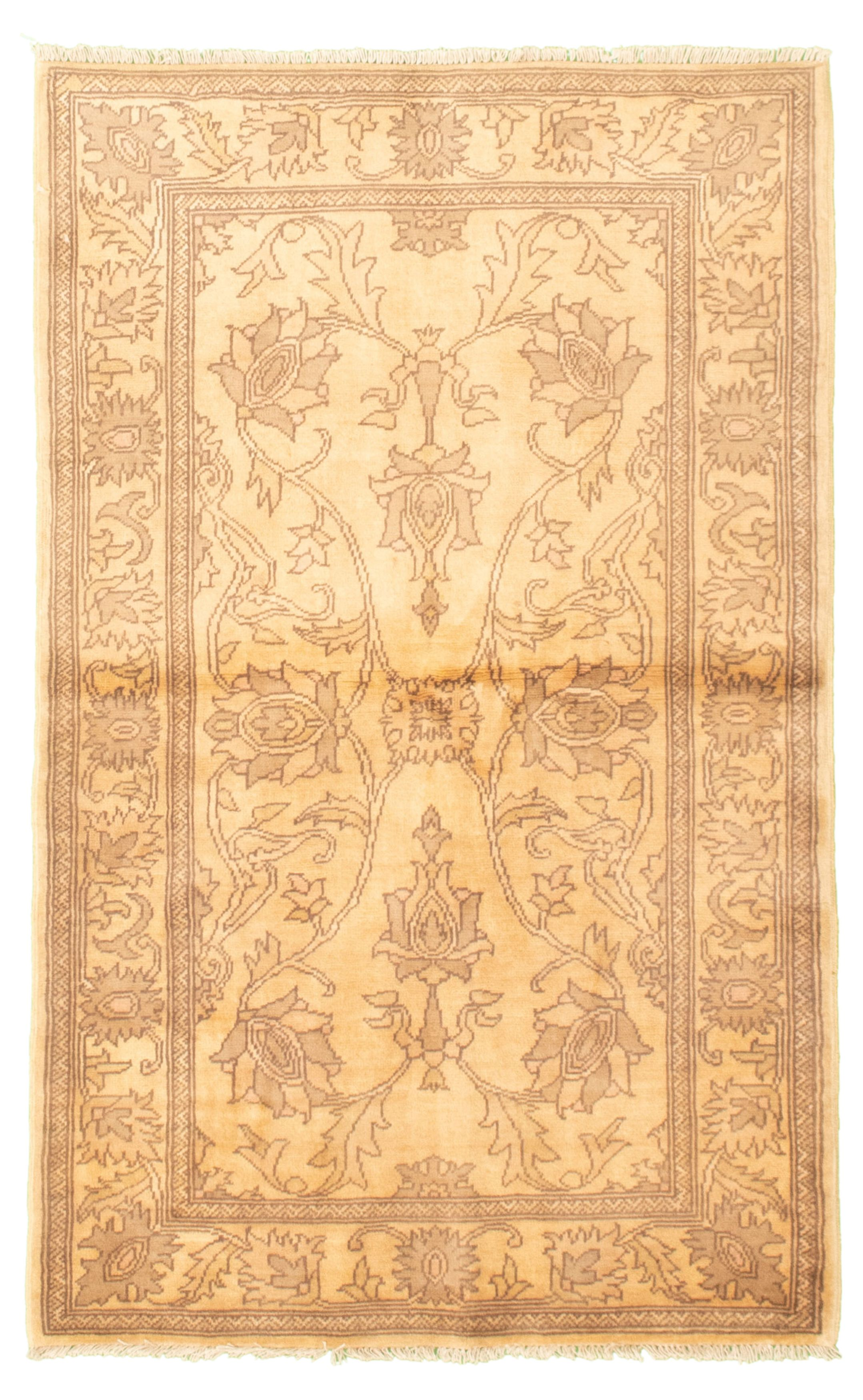 """Hand-knotted Chobi Finest Ivory Wool Rug 3'2"""" x 5'2"""" Size: 3'2"""" x 5'2"""""""