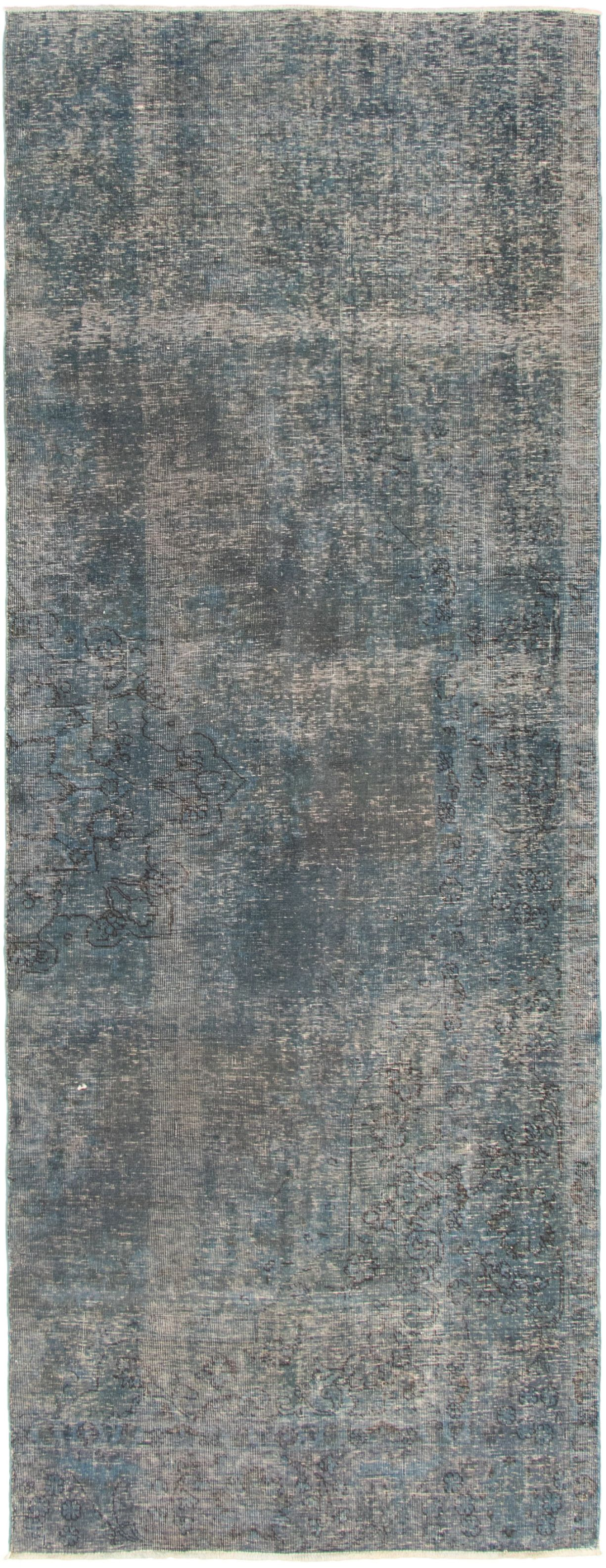 """Hand-knotted Color Transition Navy Blue Wool Rug 4'5"""" x 12'0"""" Size: 4'5"""" x 12'0"""""""