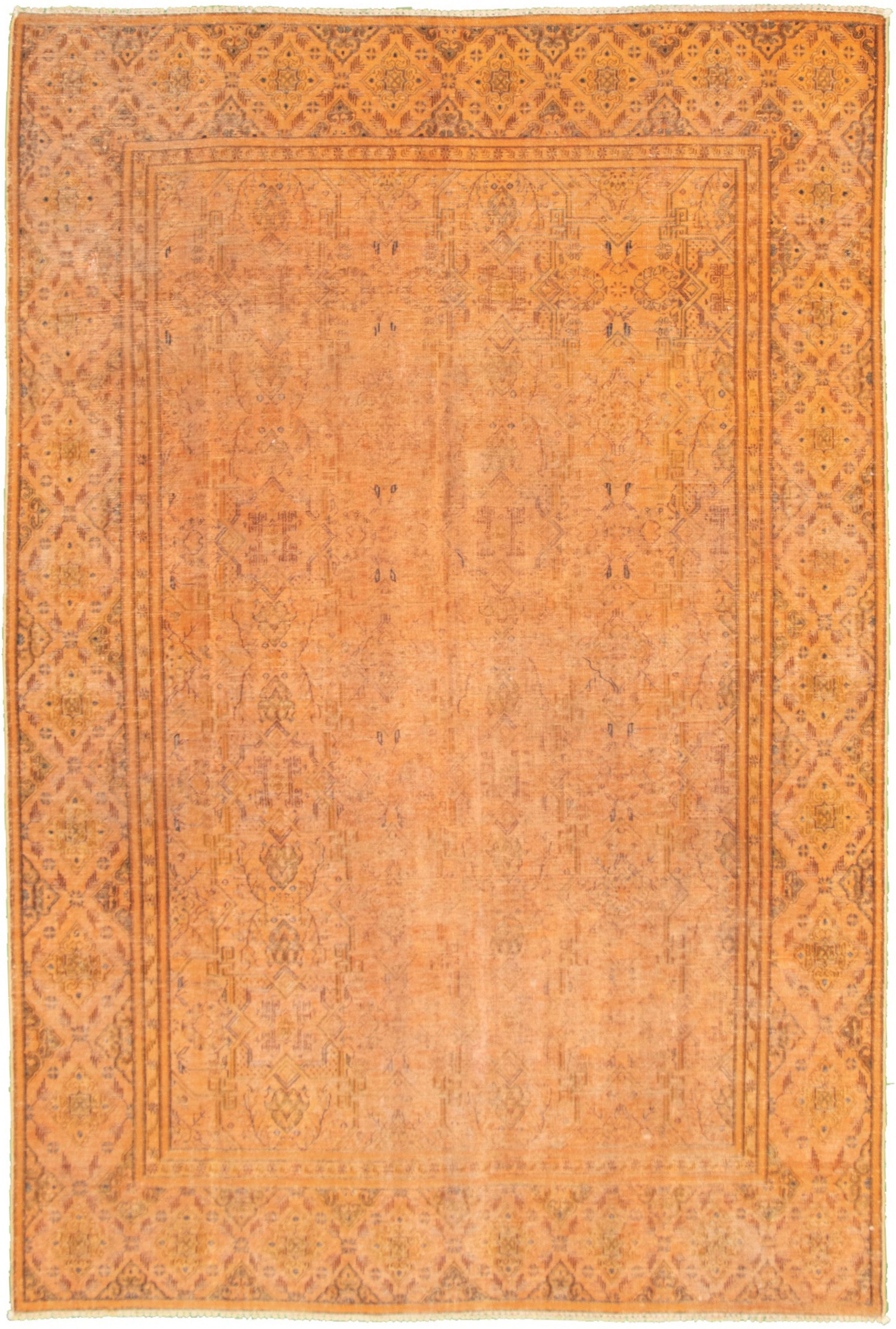 """Hand-knotted Color Transition Burnt Orange Wool Rug 6'9"""" x 10'3"""" Size: 6'9"""" x 10'3"""""""