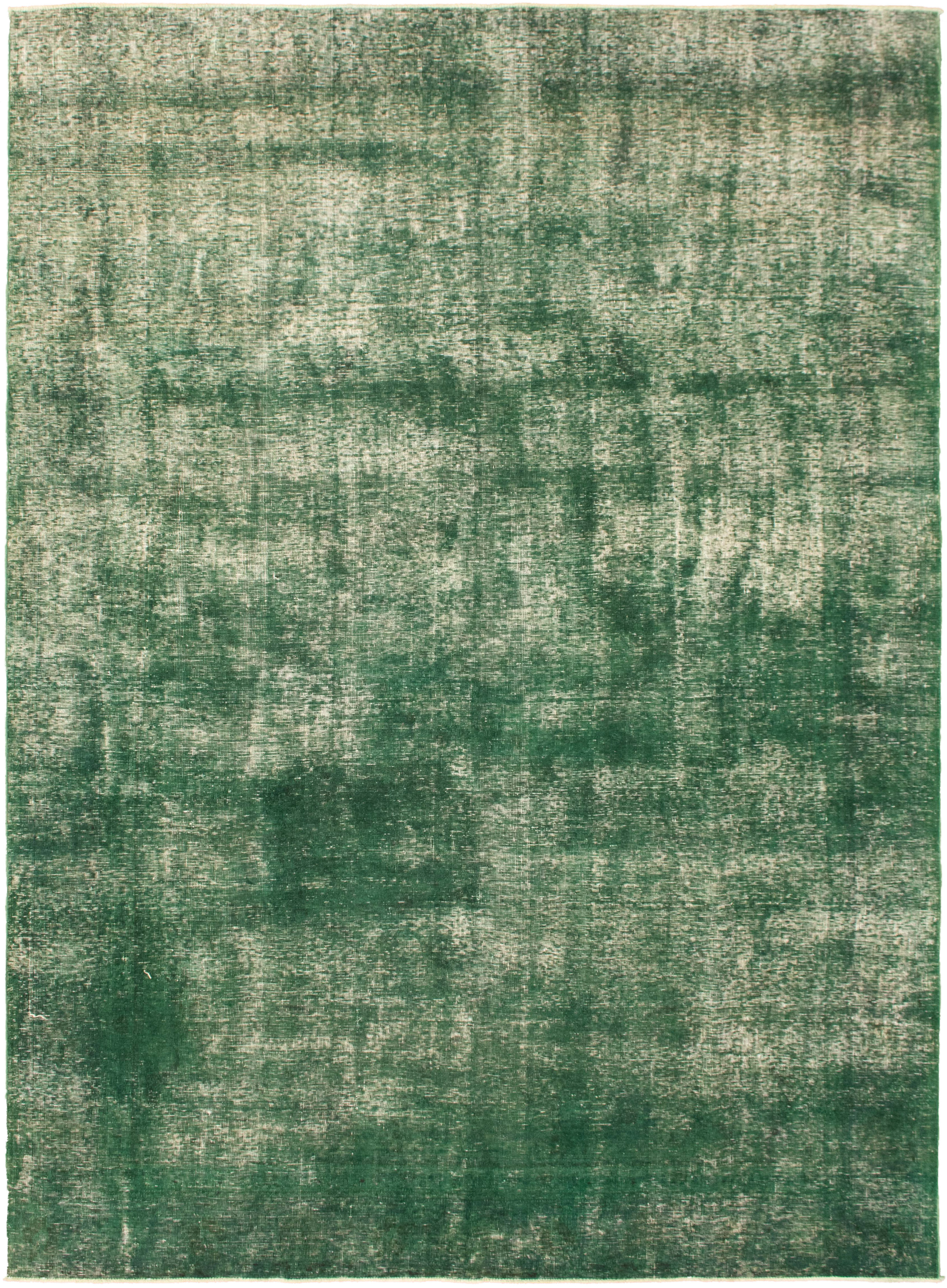 """Hand-knotted Color Transition Green Wool Rug 7'7"""" x 10'3"""" Size: 7'7"""" x 10'3"""""""