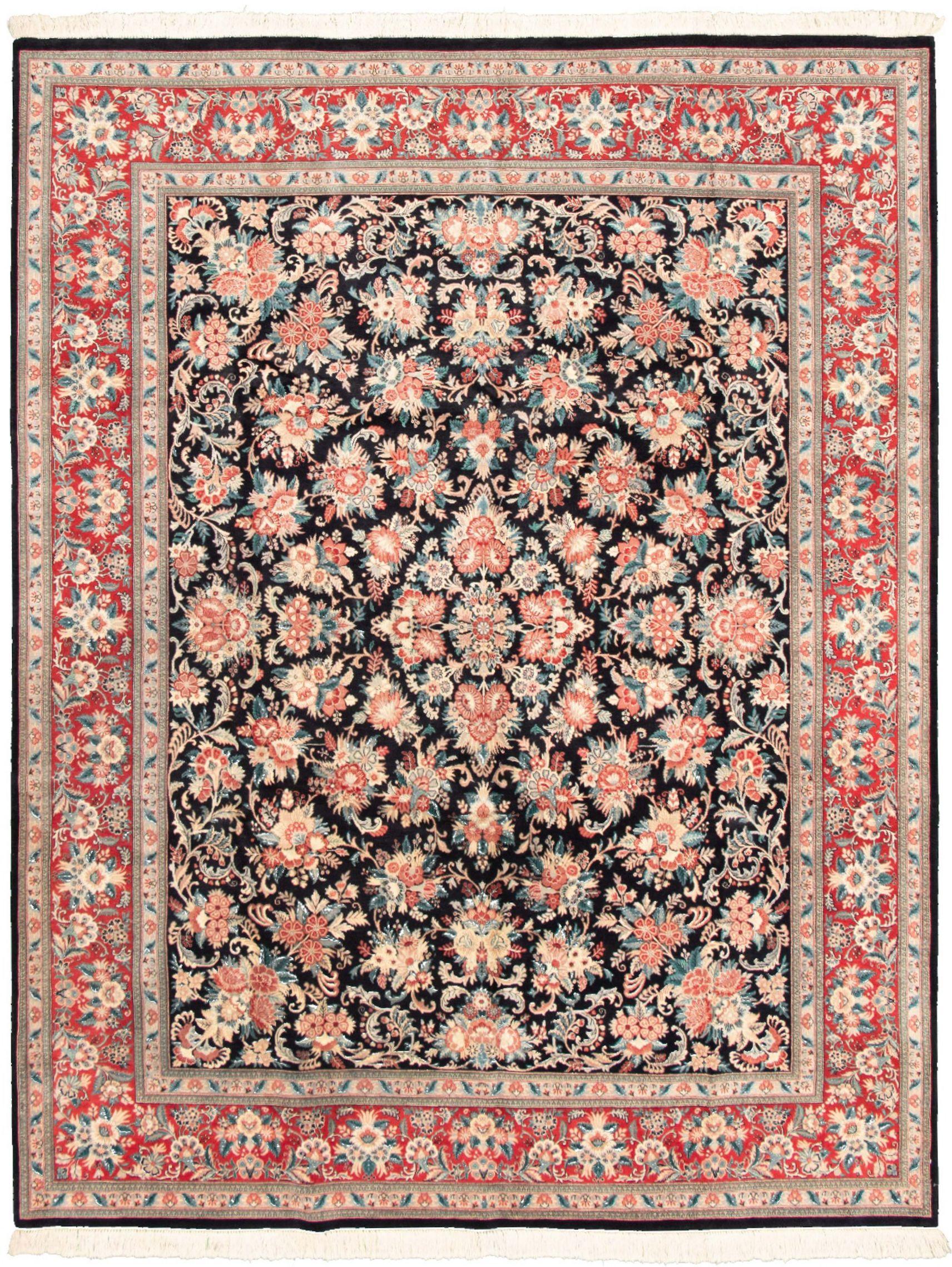 "Hand-knotted Pako Persian 18/20 Dark Navy Wool Rug 8'3"" x 10'6"" Size: 8'3"" x 10'0"""