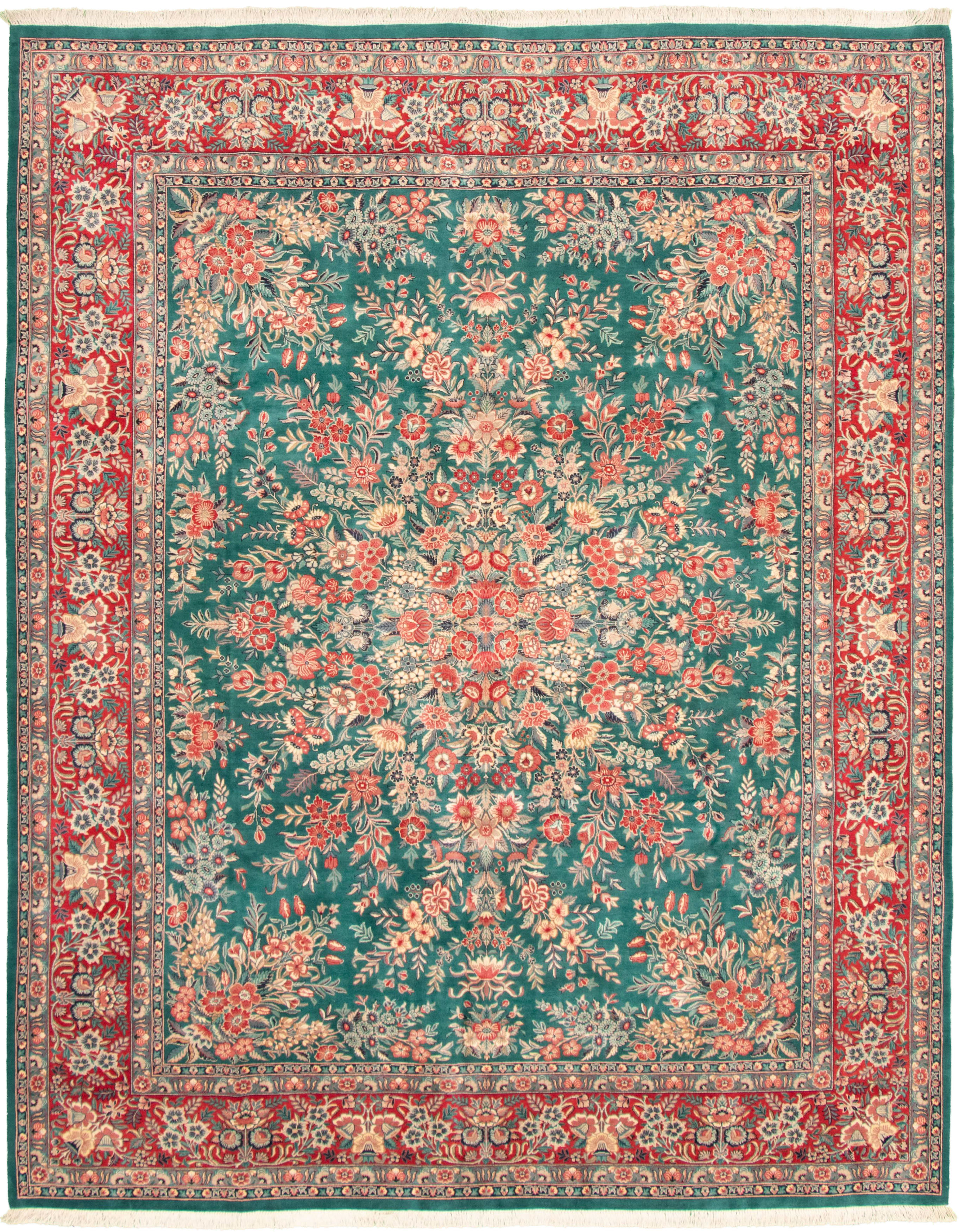 """Hand-knotted Pako Persian 18/20 Teal Wool Rug 8'2"""" x 10'4"""" Size: 8'2"""" x 10'4"""""""