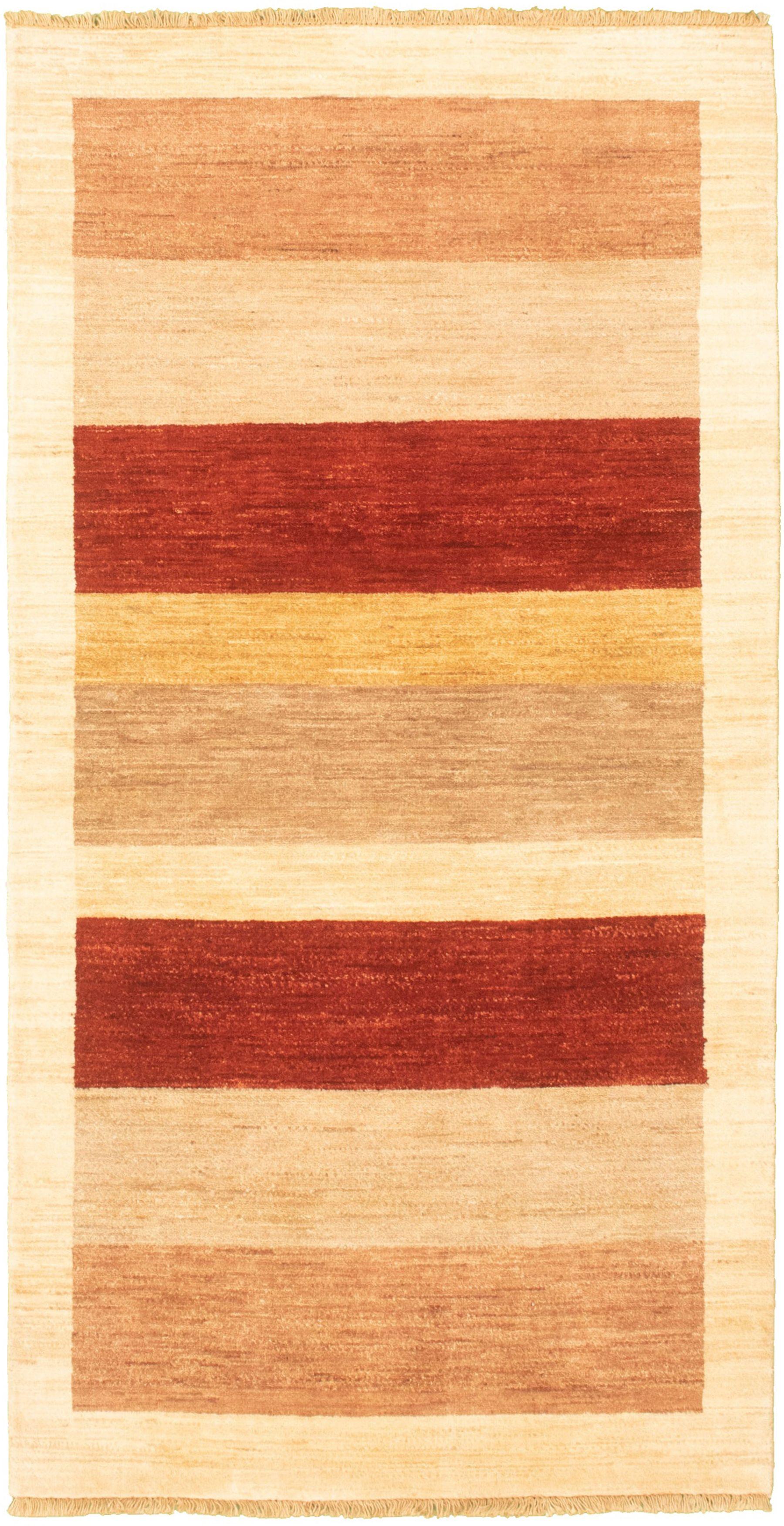 "Hand-knotted Peshawar Ziegler Cream Wool Rug 3'2"" x 6'7"" Size: 3'2"" x 6'7"""