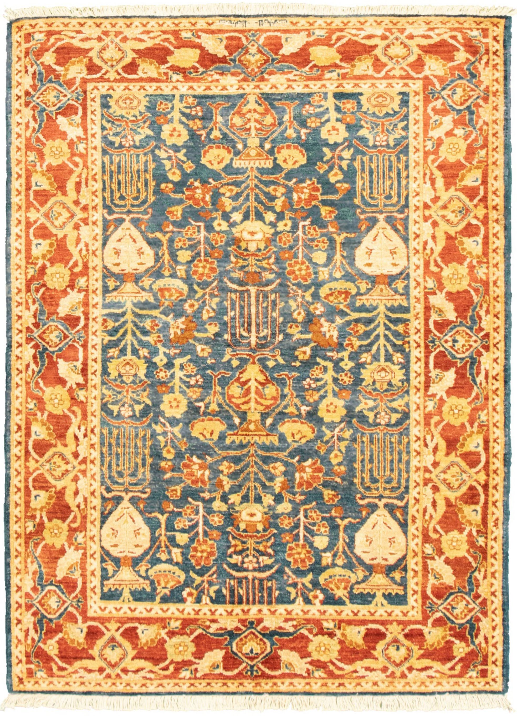 """Hand-knotted Peshawar Ziegler Dark Blue Wool Rug 4'3"""" x 5'10"""" Size: 4'3"""" x 5'10"""""""