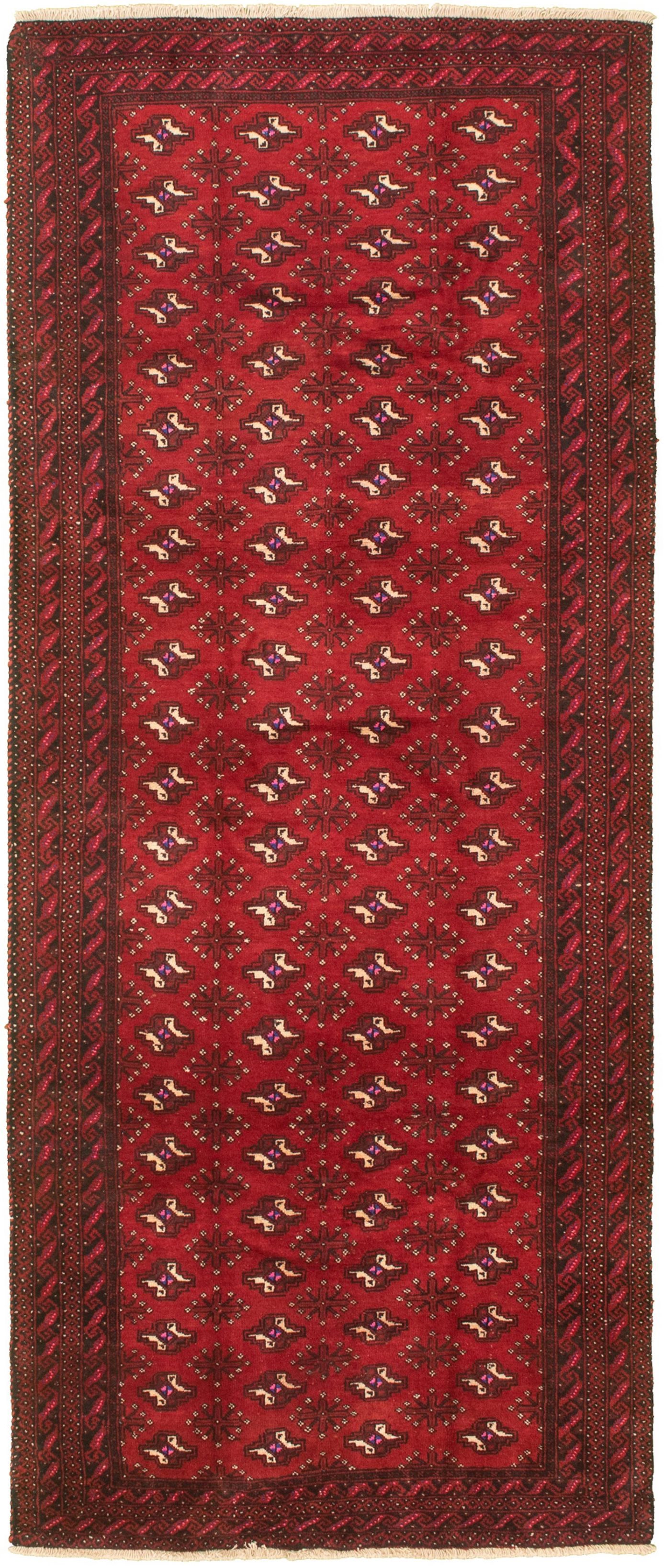 """Hand-knotted Authentic Turkish Dark Copper Wool Rug 3'9"""" x 9'8"""" Size: 3'9"""" x 9'8"""""""