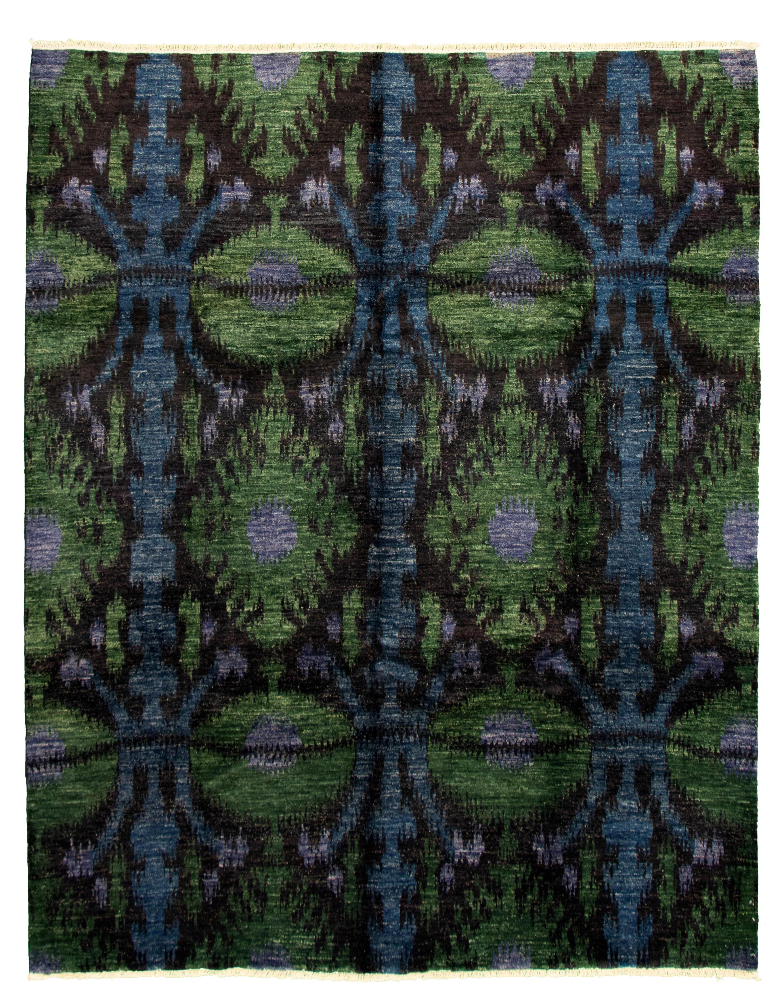 "Hand-knotted Peshawar Ziegler Black Wool Rug 8'0"" x 10'3"" Size: 8'0"" x 10'3"""
