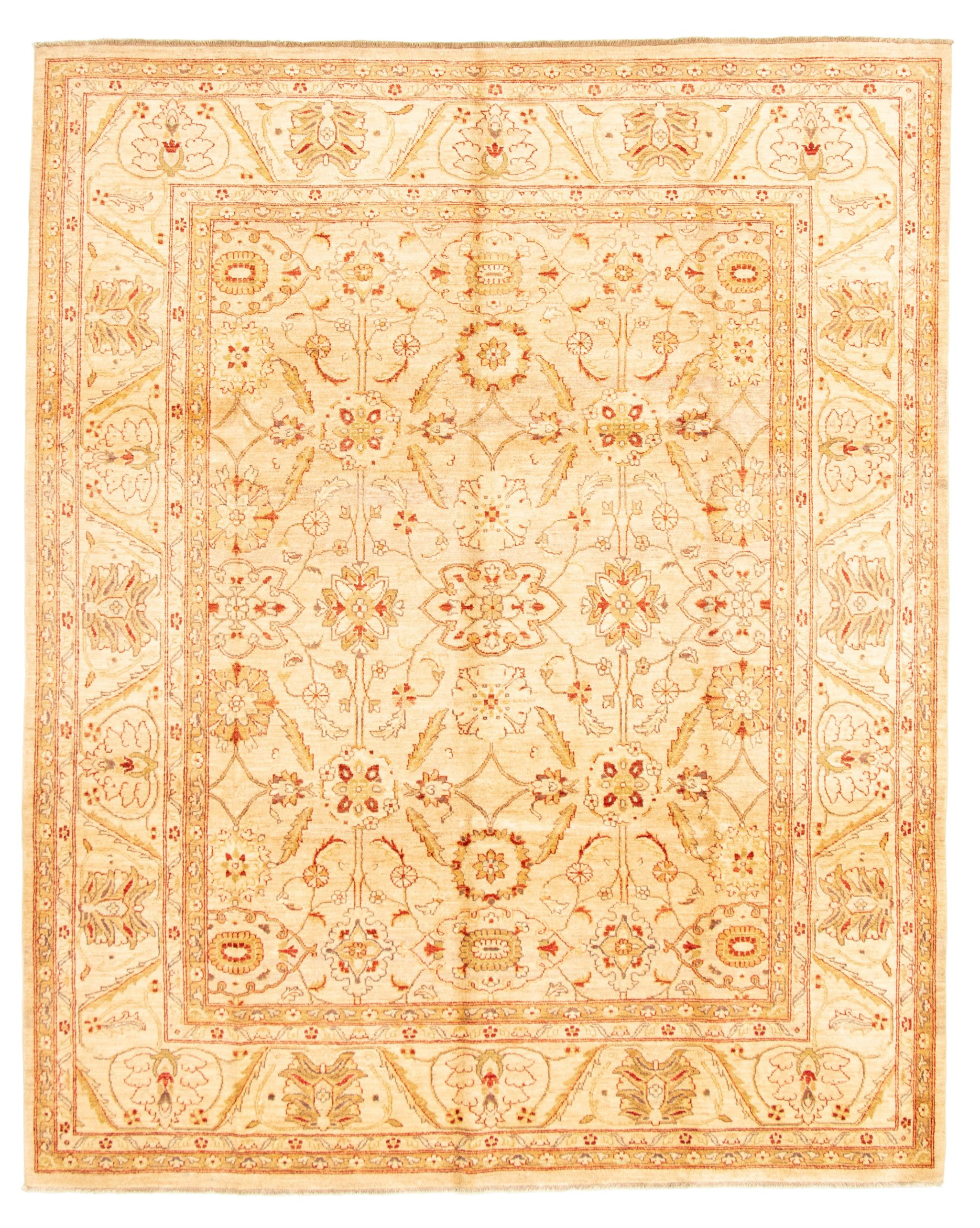 """Hand-knotted Chobi Finest Ivory Wool Rug 8'2"""" x 10'0"""" Size: 8'2"""" x 10'0"""""""