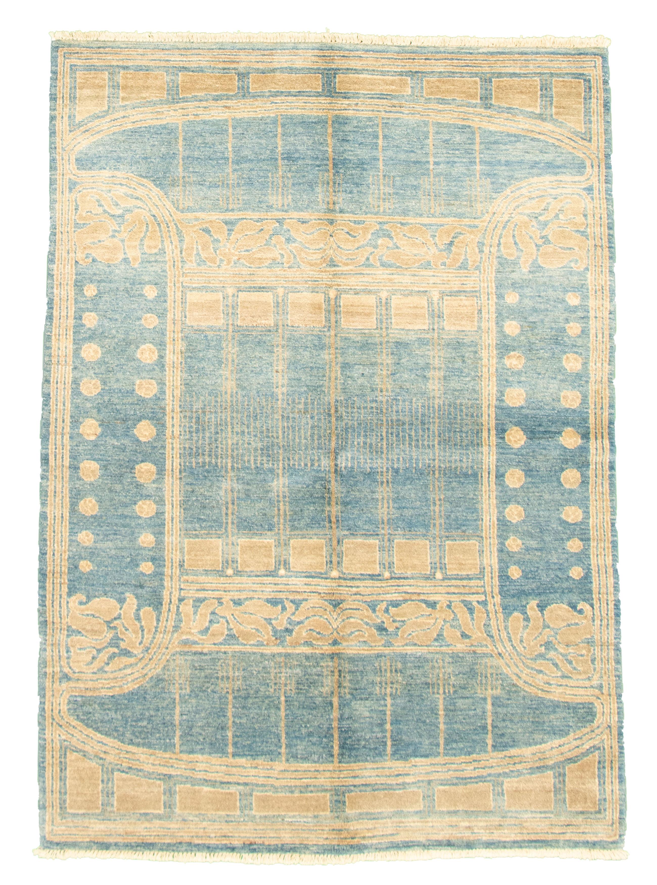 "Hand-knotted Peshawar Ziegler Blue Wool Rug 5'2"" x 7'7"" Size: 5'2"" x 7'7"""