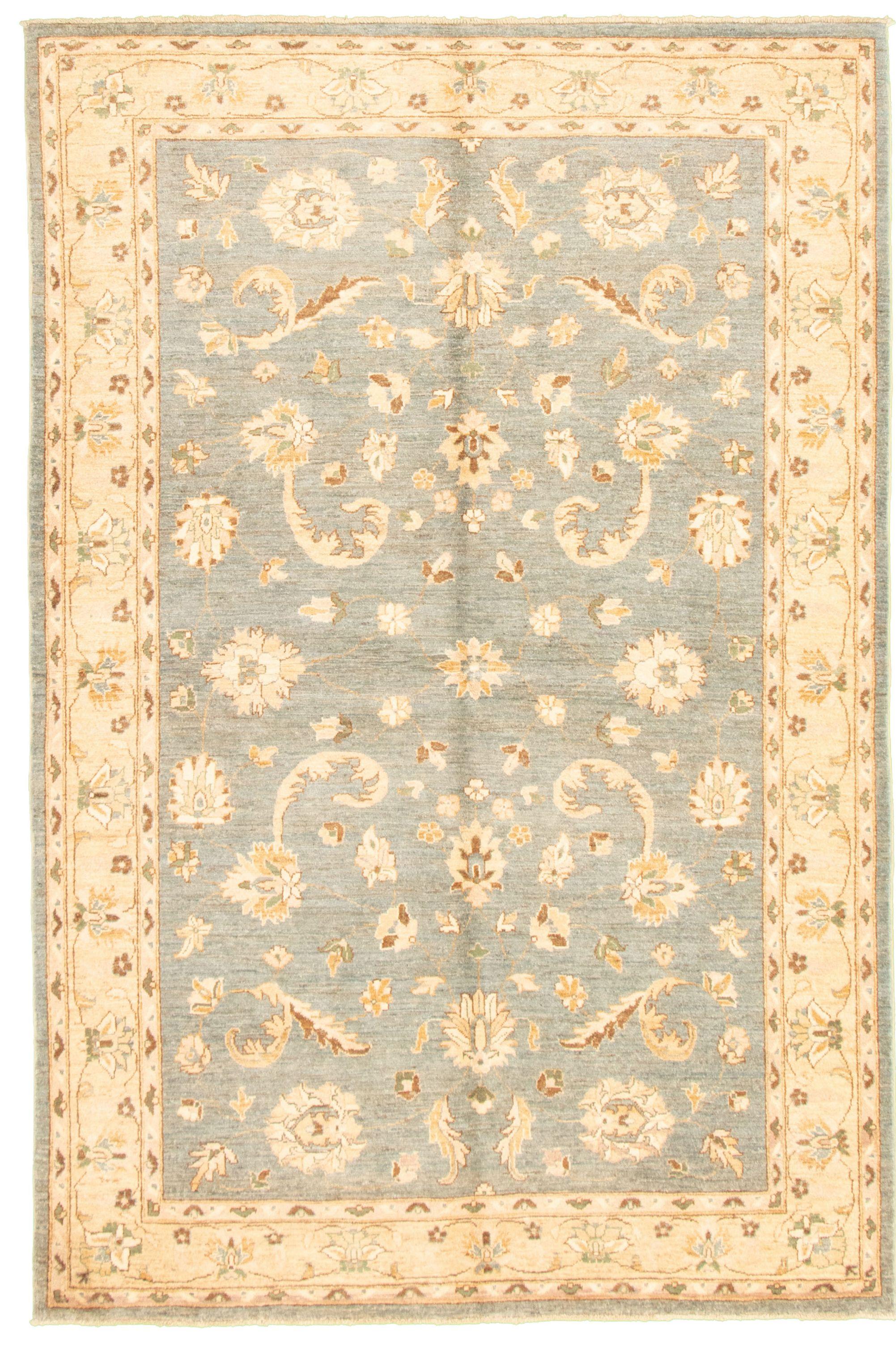 "Hand-knotted Peshawar Oushak Light Blue  Wool Rug 5'9"" x 8'9"" Size: 5'9"" x 8'9"""