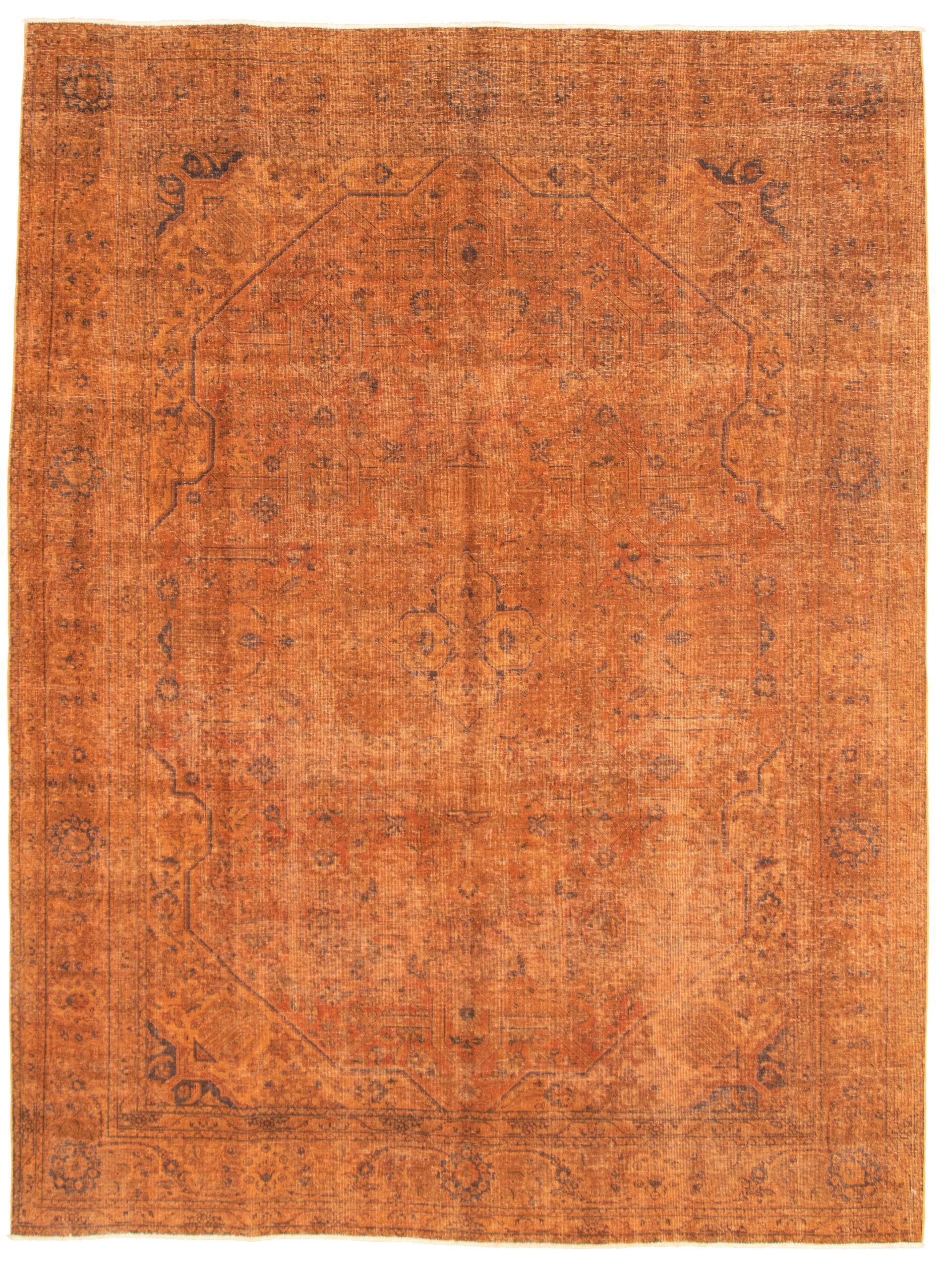 """Hand-knotted Color Transition Burnt Orange Wool Rug 8'1"""" x 10'8"""" Size: 8'1"""" x 10'8"""""""