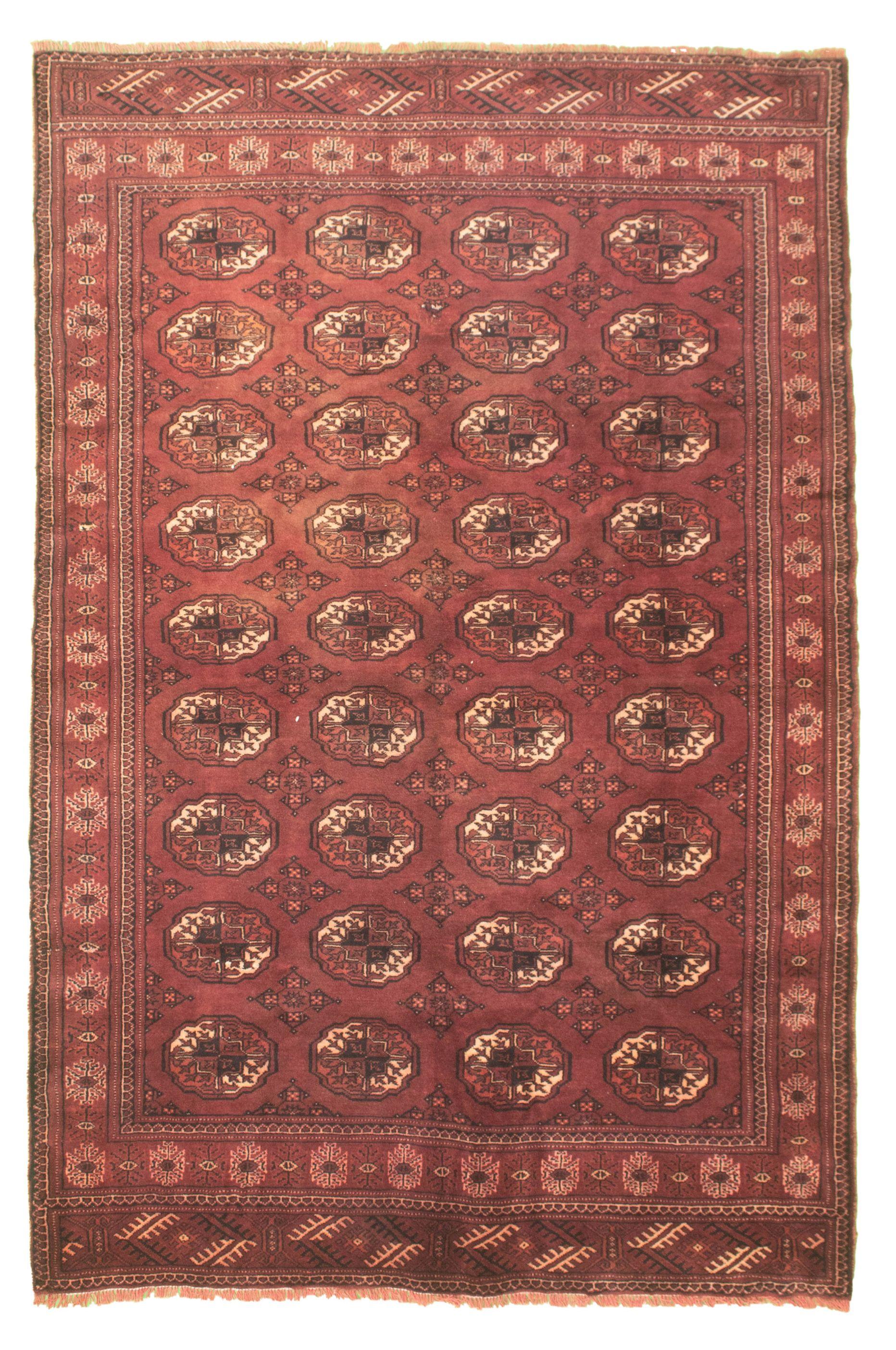 "Hand-knotted Shiravan Bokhara Burgundy Wool Rug 5'5"" x 8'6"" Size: 5'5"" x 8'6"""
