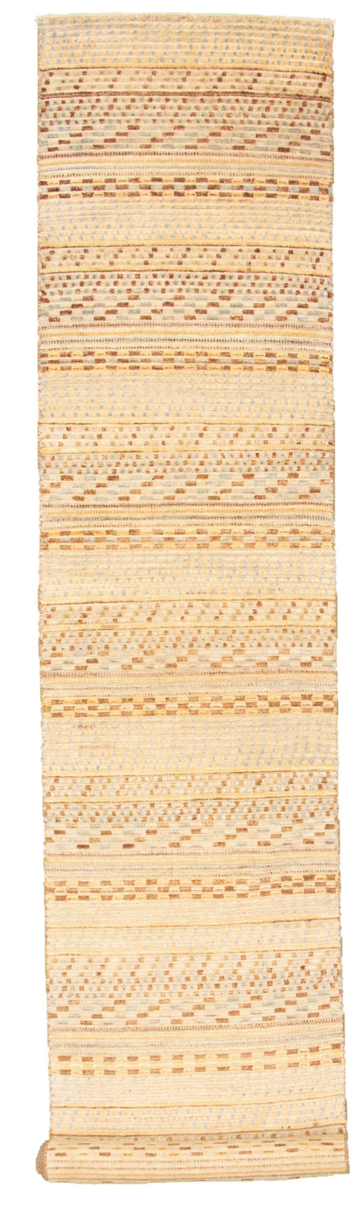 "Hand-knotted Peshawar Ziegler Ivory, Light Blue  Wool Rug 2'7"" x 14'2"" Size: 2'7"" x 14'2"""